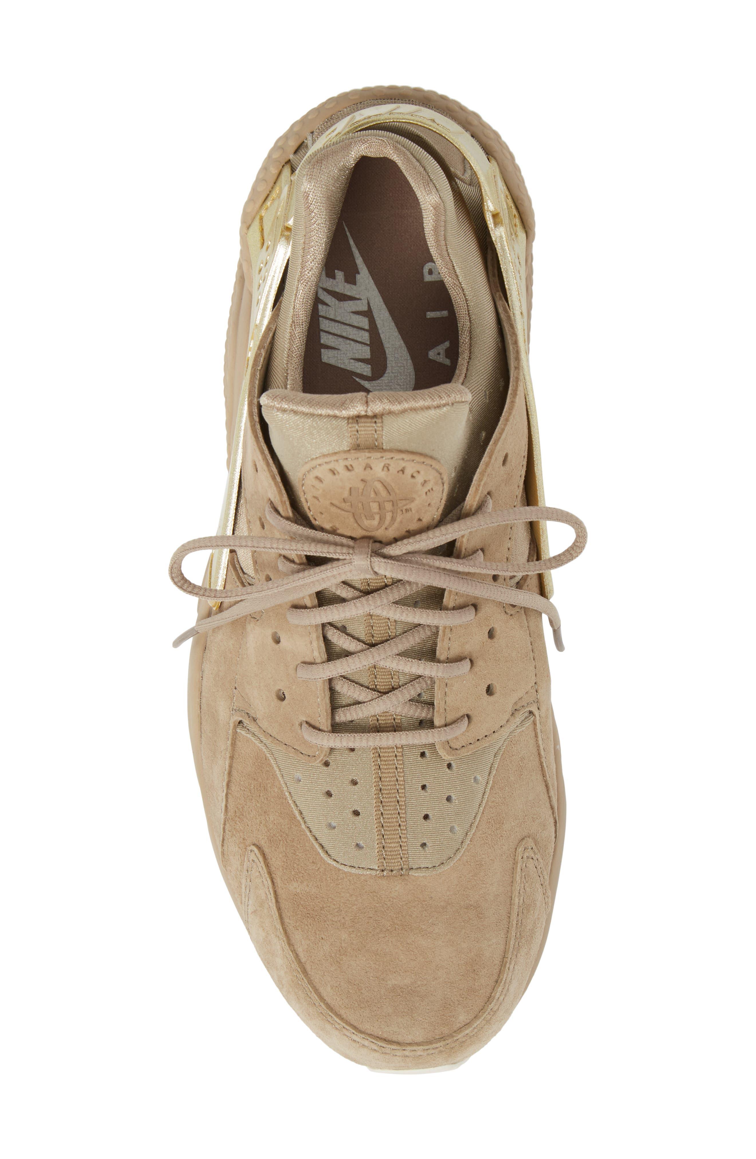 'Air Huarache Premiere' Sneaker,                             Alternate thumbnail 5, color,                             Khaki/ Gold/ Sail