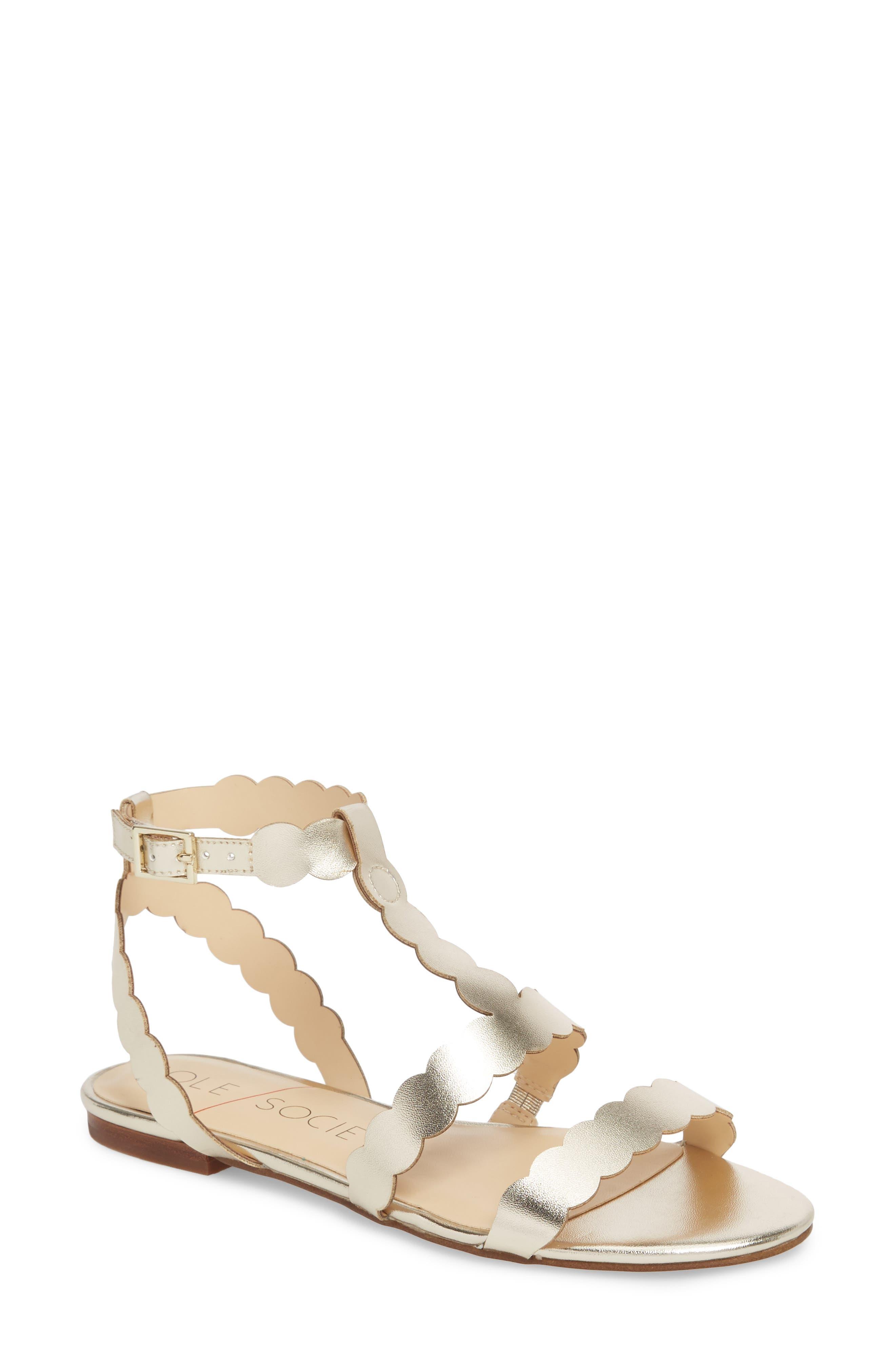 So-Maladee Flat Sandal,                         Main,                         color, Totes Gold