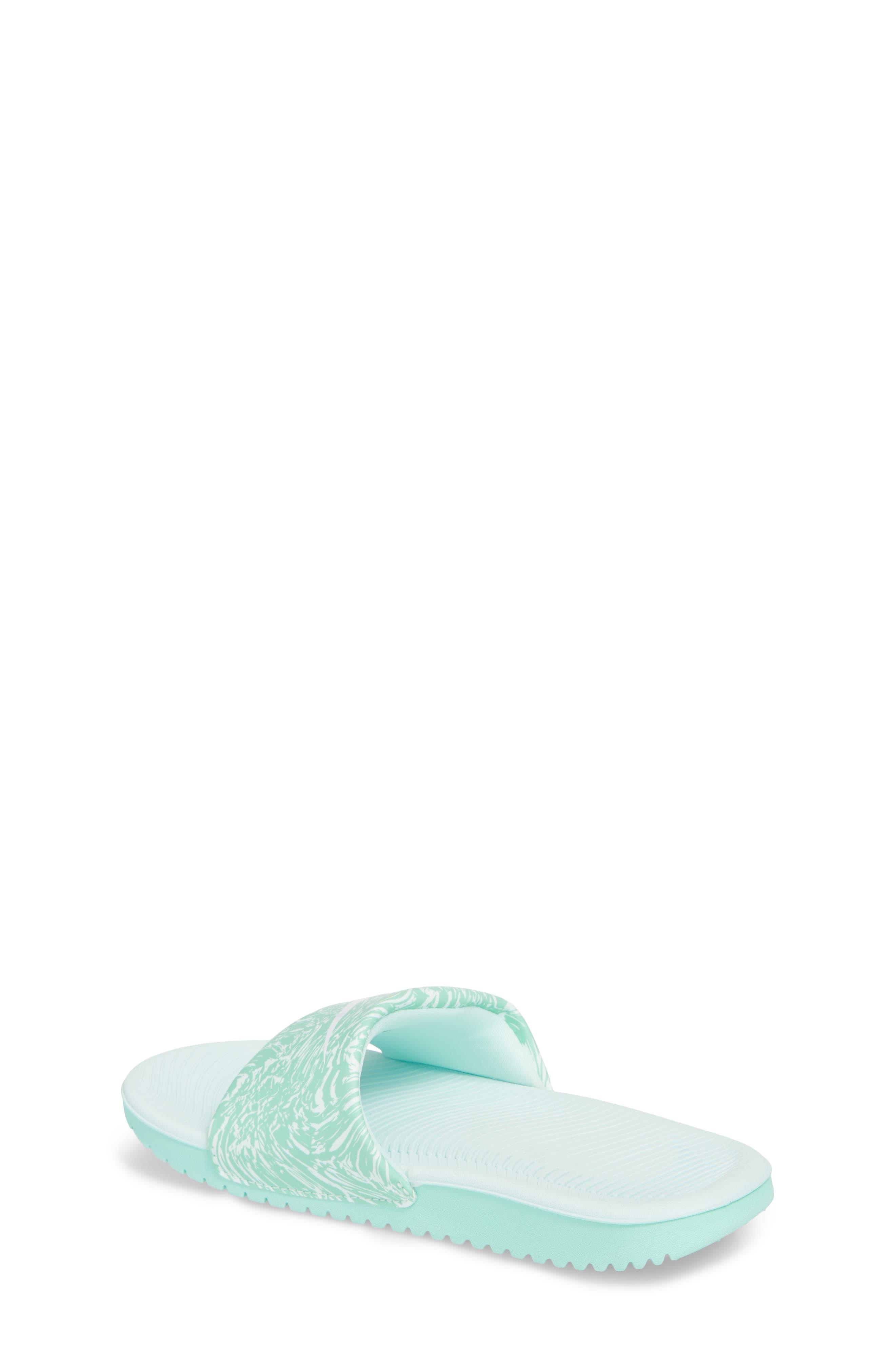 'Kawa' Print Slide Sandal,                             Alternate thumbnail 2, color,                             Emerald Rise/ White/ Igloo