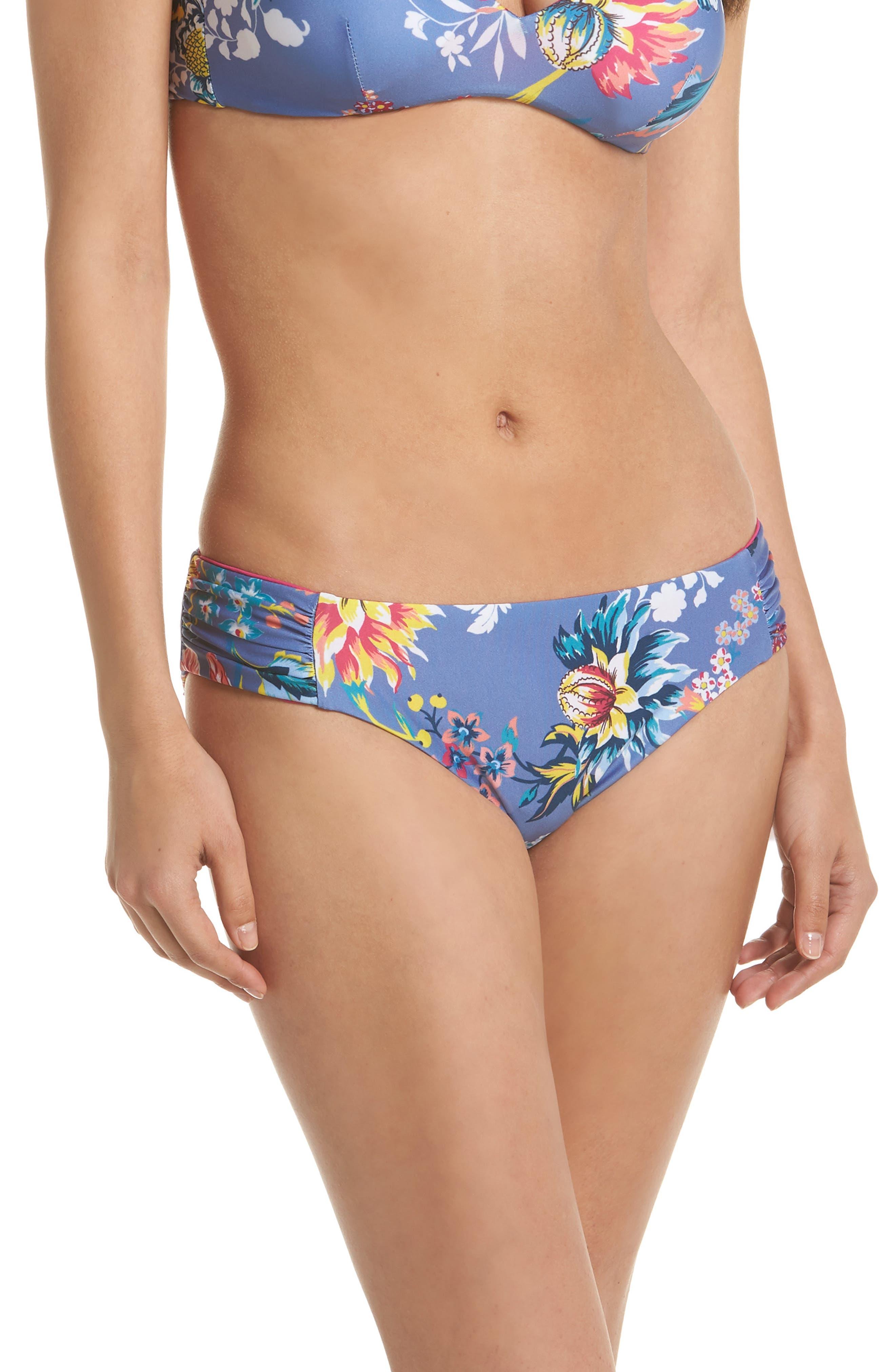 Victoria Garden Reversible Bikini Bottoms,                             Main thumbnail 1, color,                             Purple/ Blue Multi