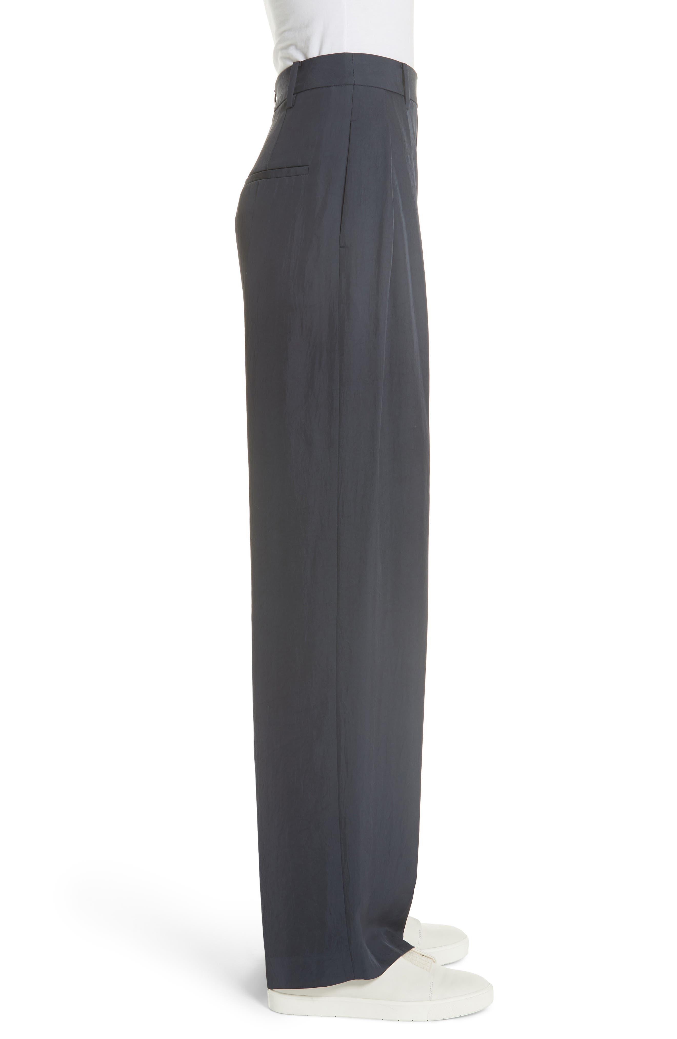 High Waist Wide Leg Pants,                             Alternate thumbnail 3, color,                             Coastal