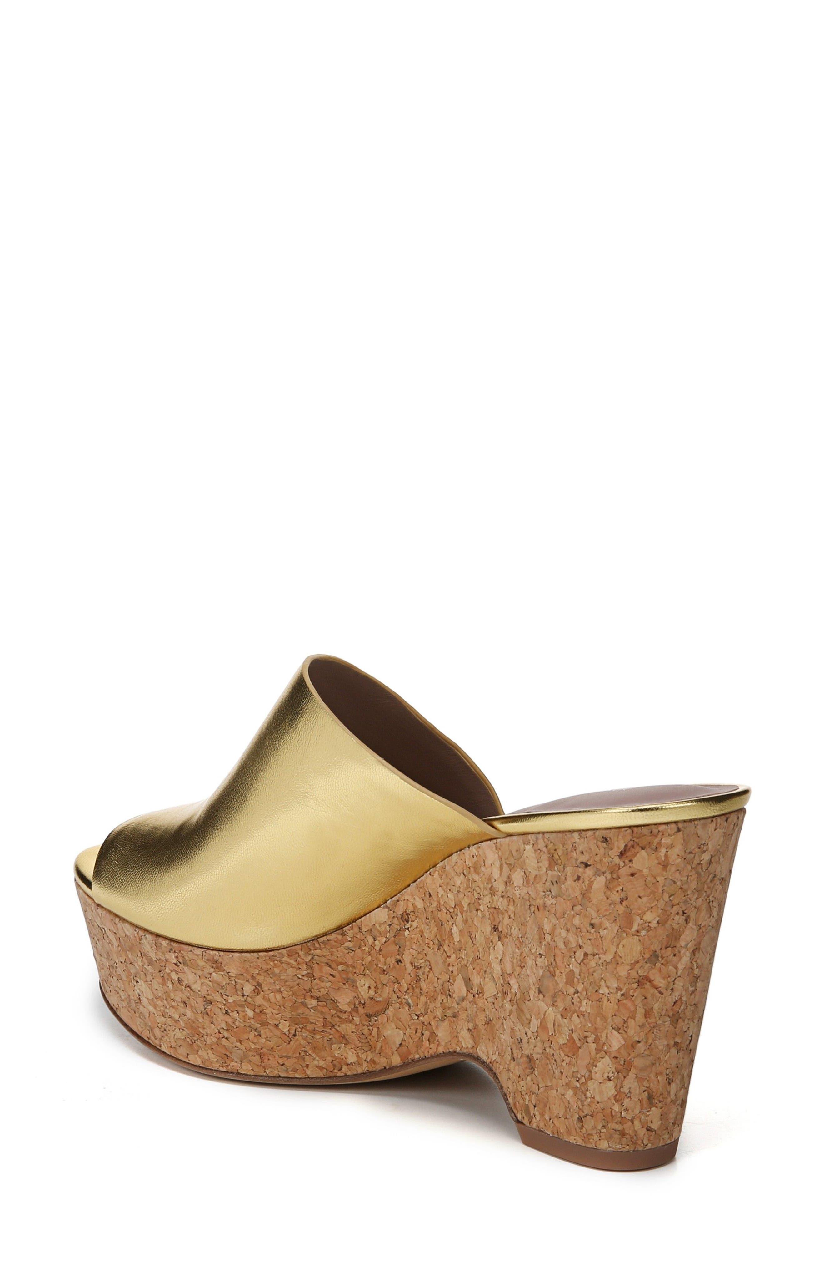 Bonnie Wedge Slide Sandal,                             Alternate thumbnail 2, color,                             Gold