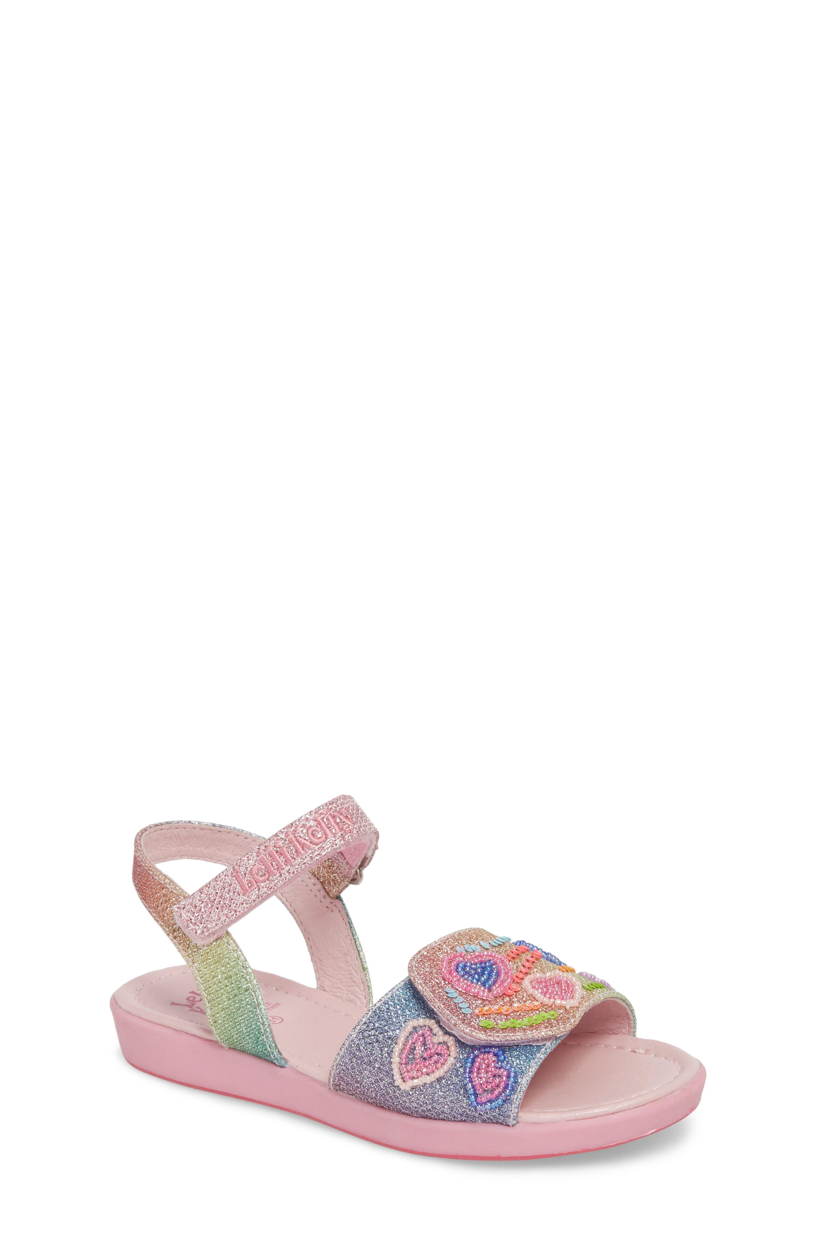 Beaded Sandal,                         Main,                         color, Blue