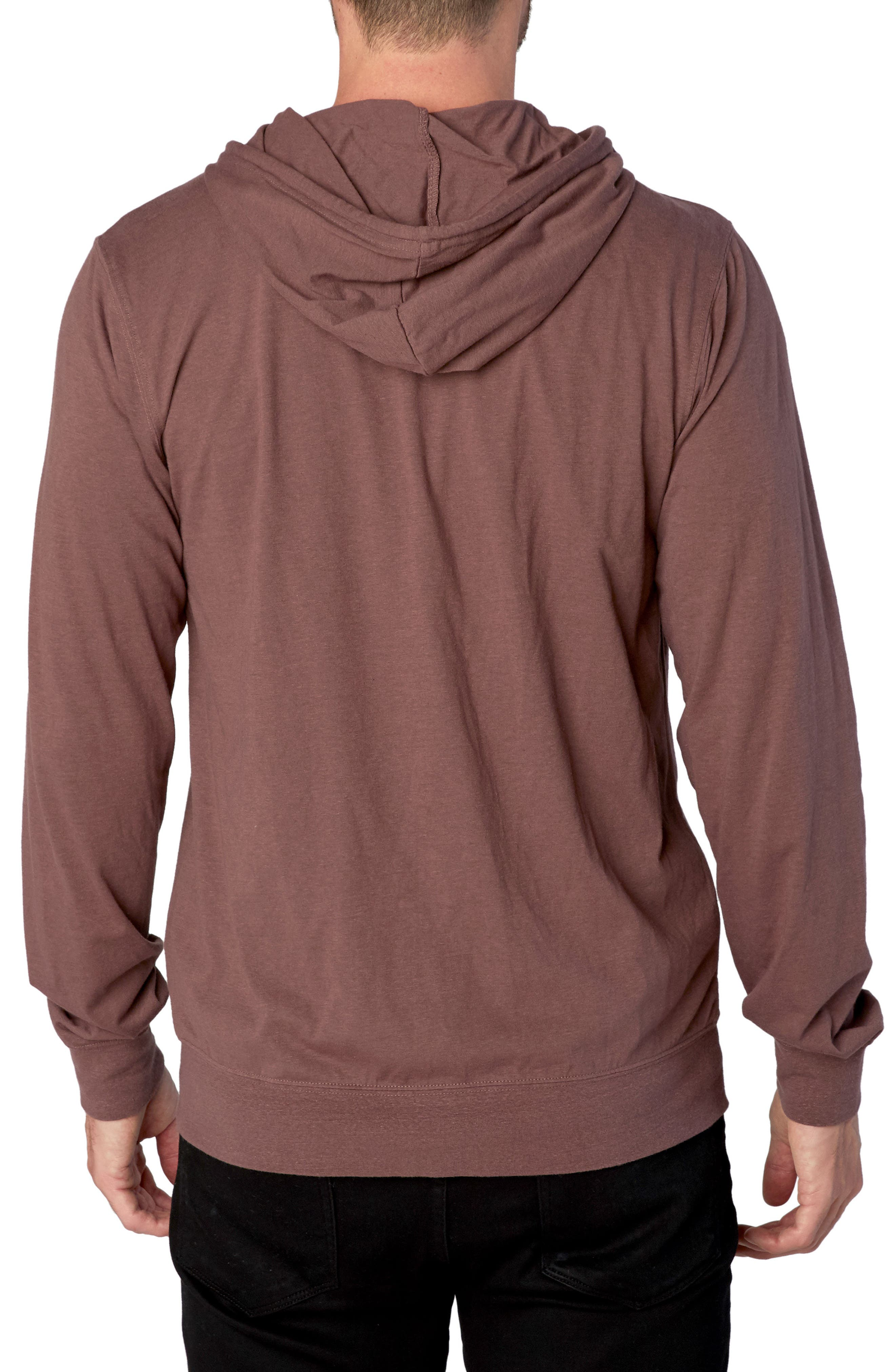 Threads for Thought Giulio Zip Hoodie,                             Alternate thumbnail 2, color,                             Twilight Mauve