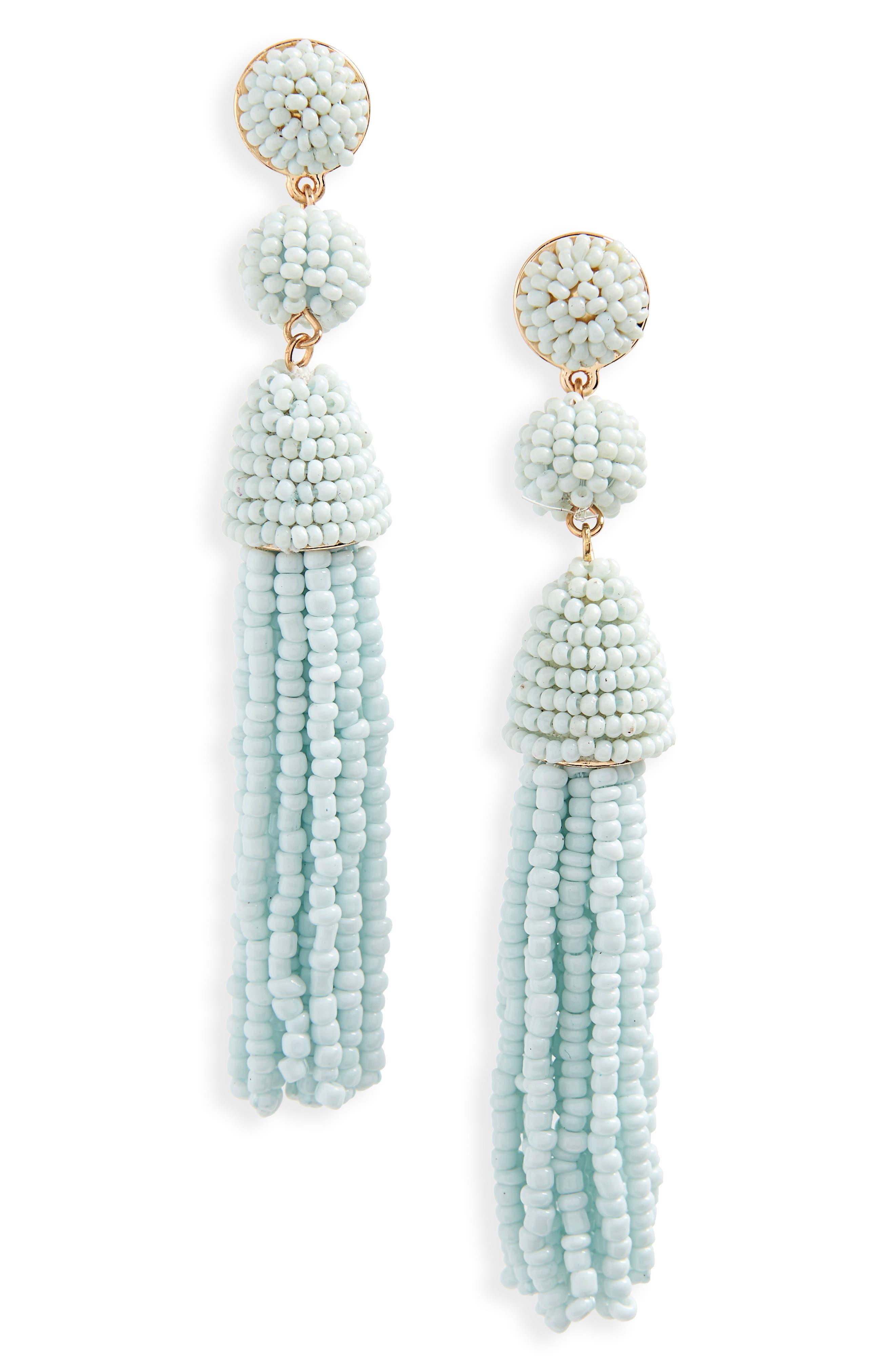 Main Image - BaubleBar Granita Beaded Tassel Earrings
