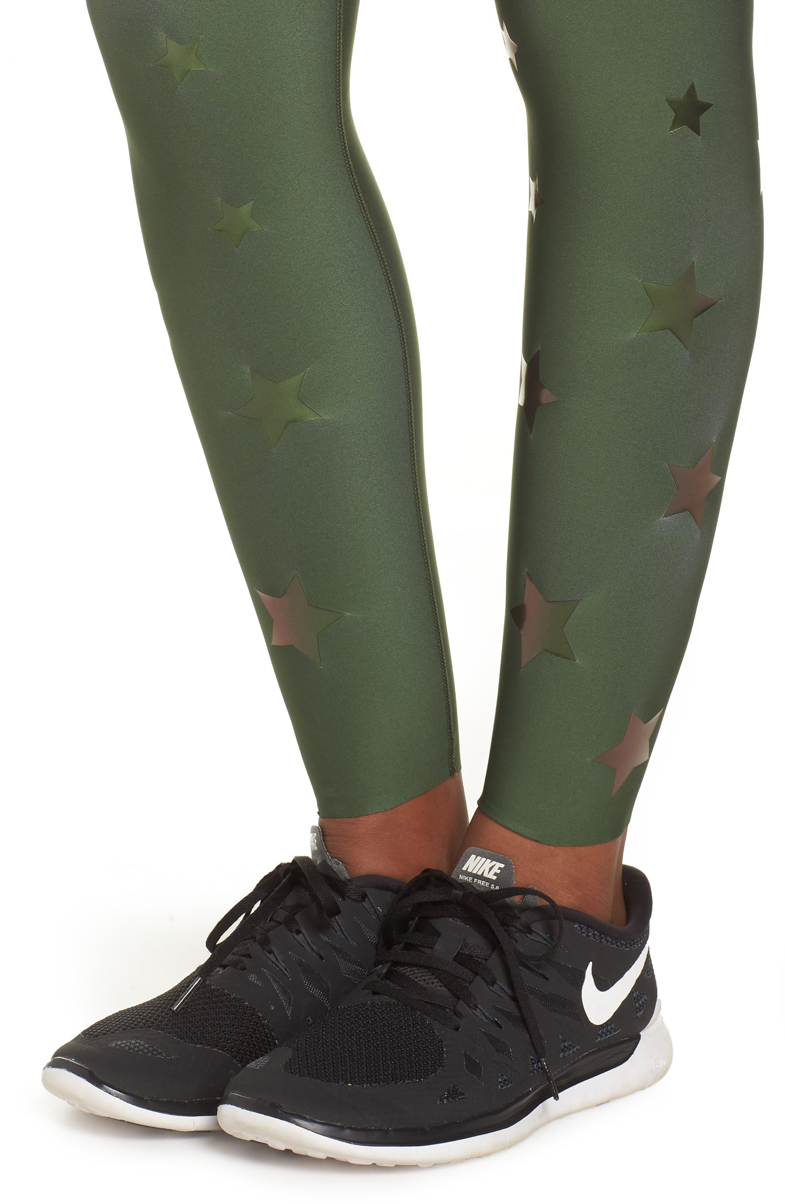 Ultra Luster Leggings,                             Alternate thumbnail 4, color,                             Army Green Beetle