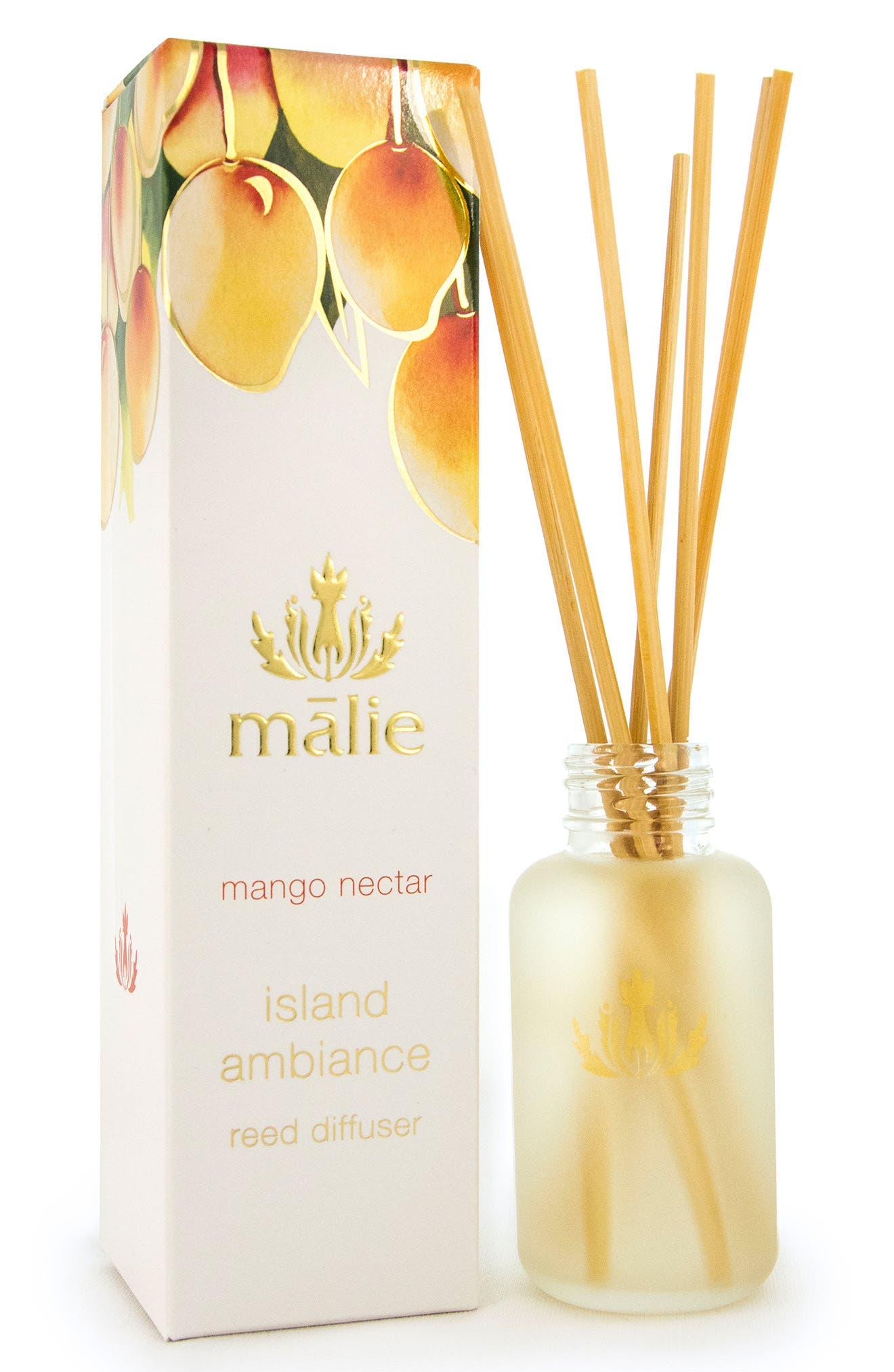 Island Ambience<sup>™</sup> Mango Nectar Reed Diffuser,                             Main thumbnail 1, color,                             None