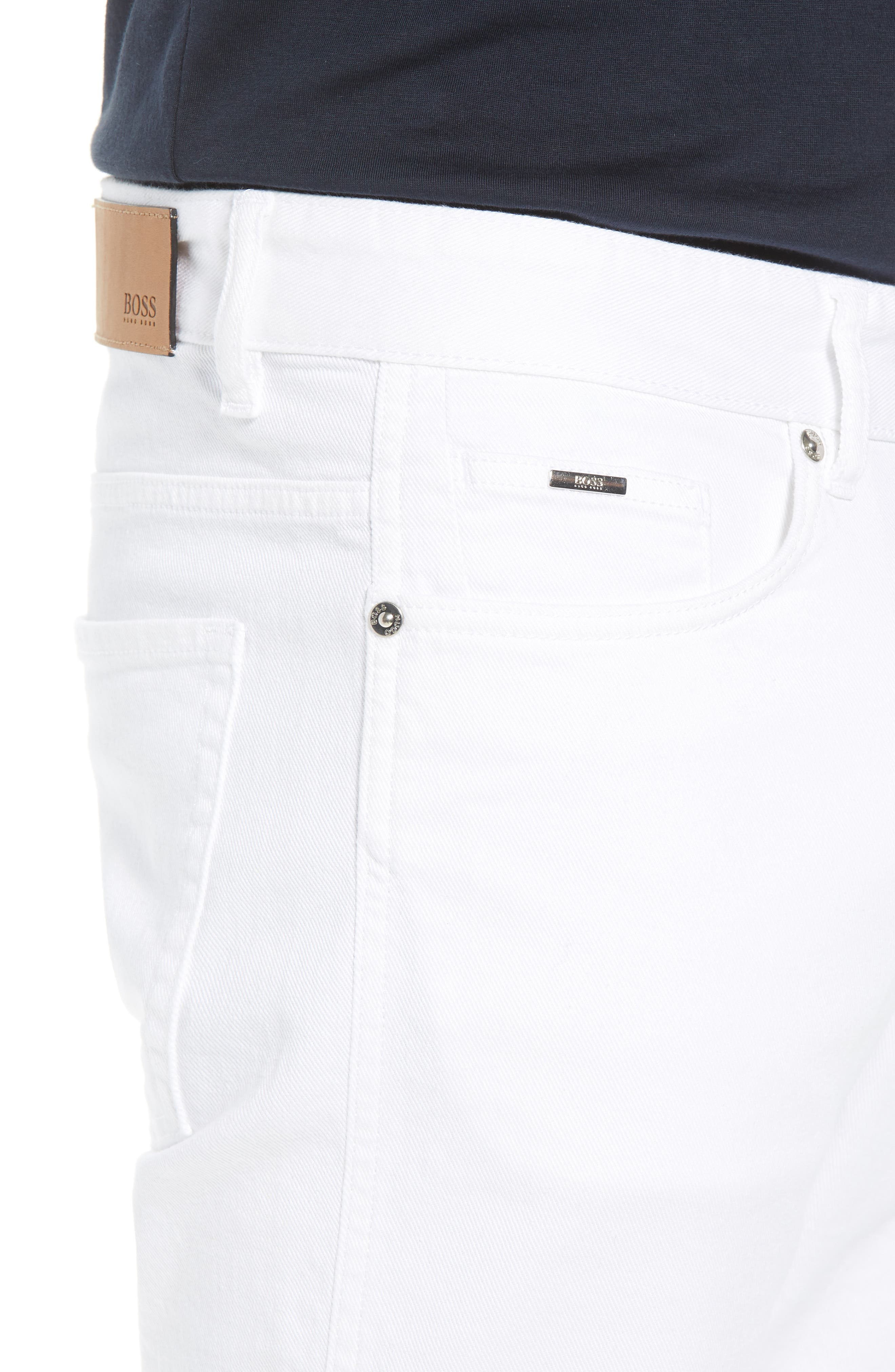 Delaware Slim Fit Jeans,                             Alternate thumbnail 4, color,                             White