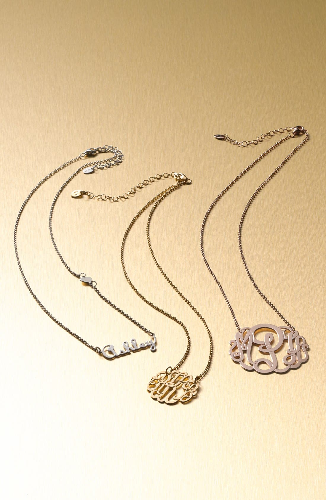 Alternate Image 3  - Argento Vivo Personalized Small 3-Initial Letter Monogram Necklace (Nordstrom Exclusive)