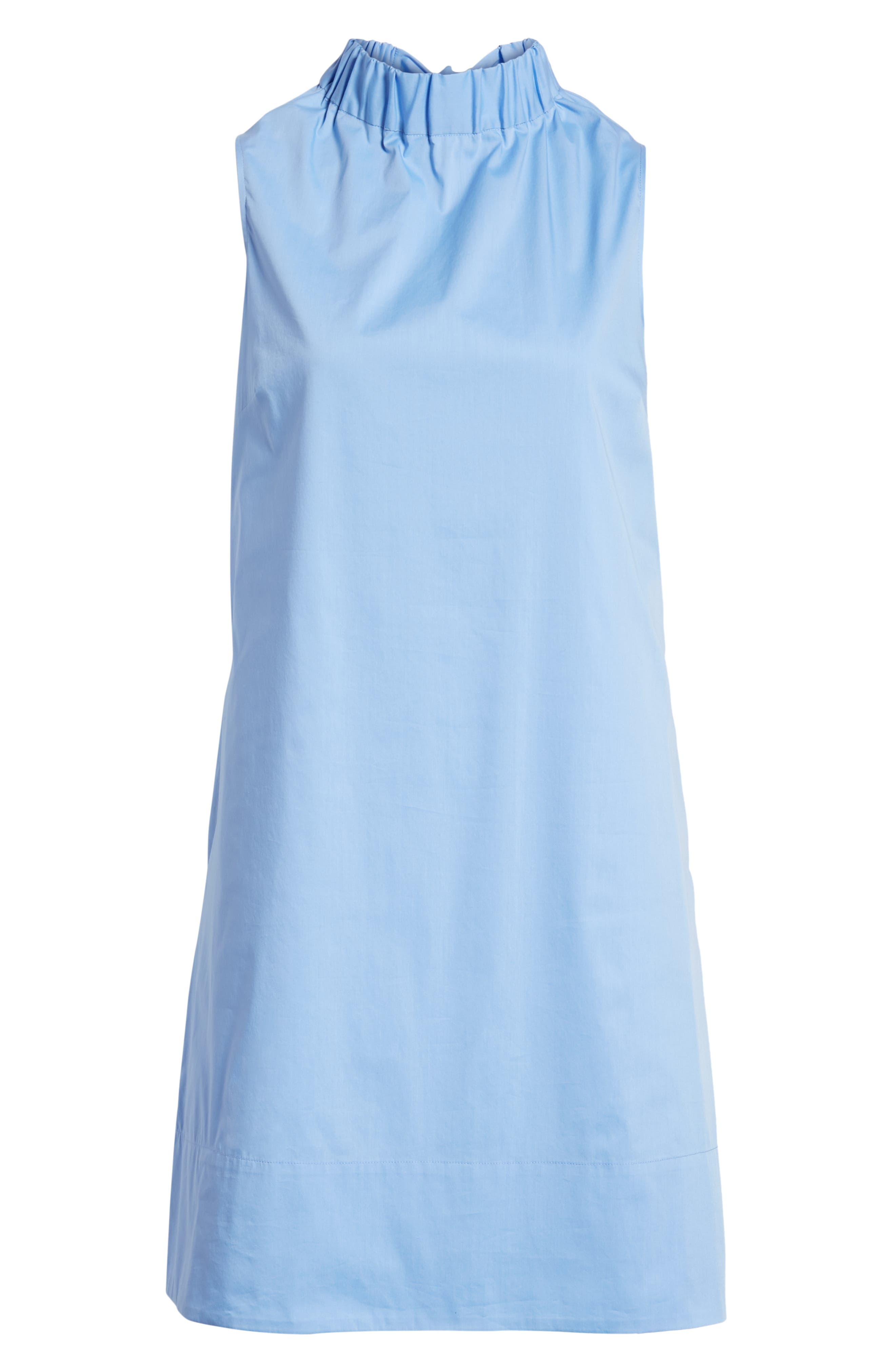 Stretch Cotton Poplin Shift Dress,                             Alternate thumbnail 7, color,                             Blue Cornflower
