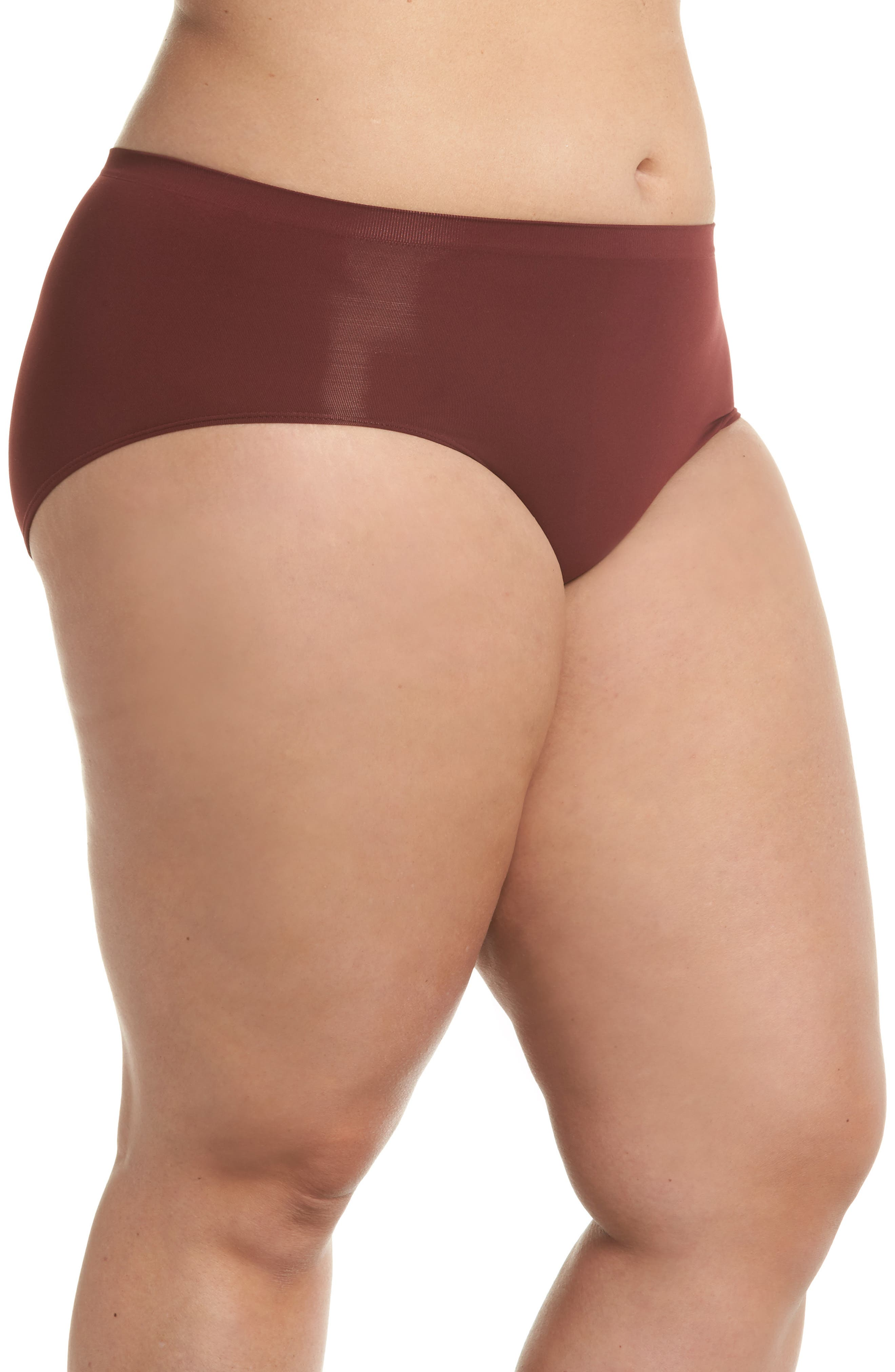 Seamless Hipster Briefs,                             Alternate thumbnail 3, color,                             Red Tannin