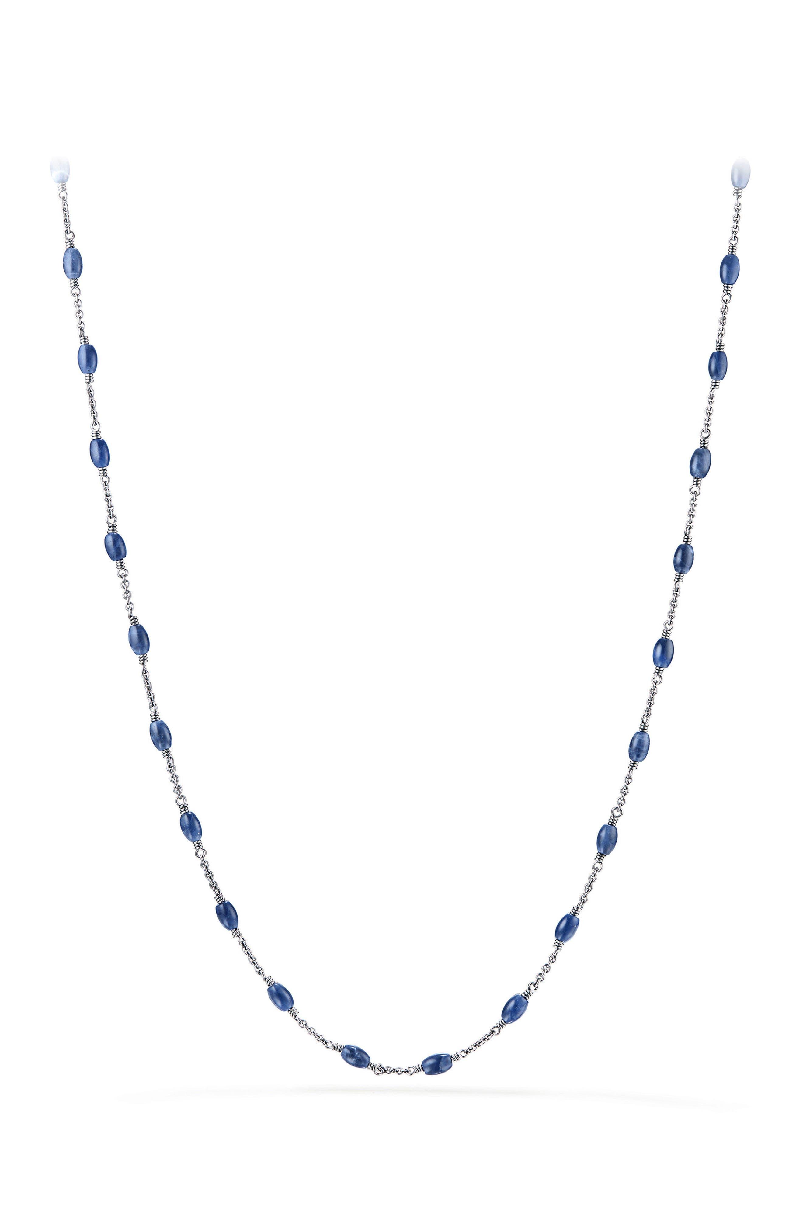Spiritual Beads Necklace,                             Main thumbnail 1, color,                             Sodalite