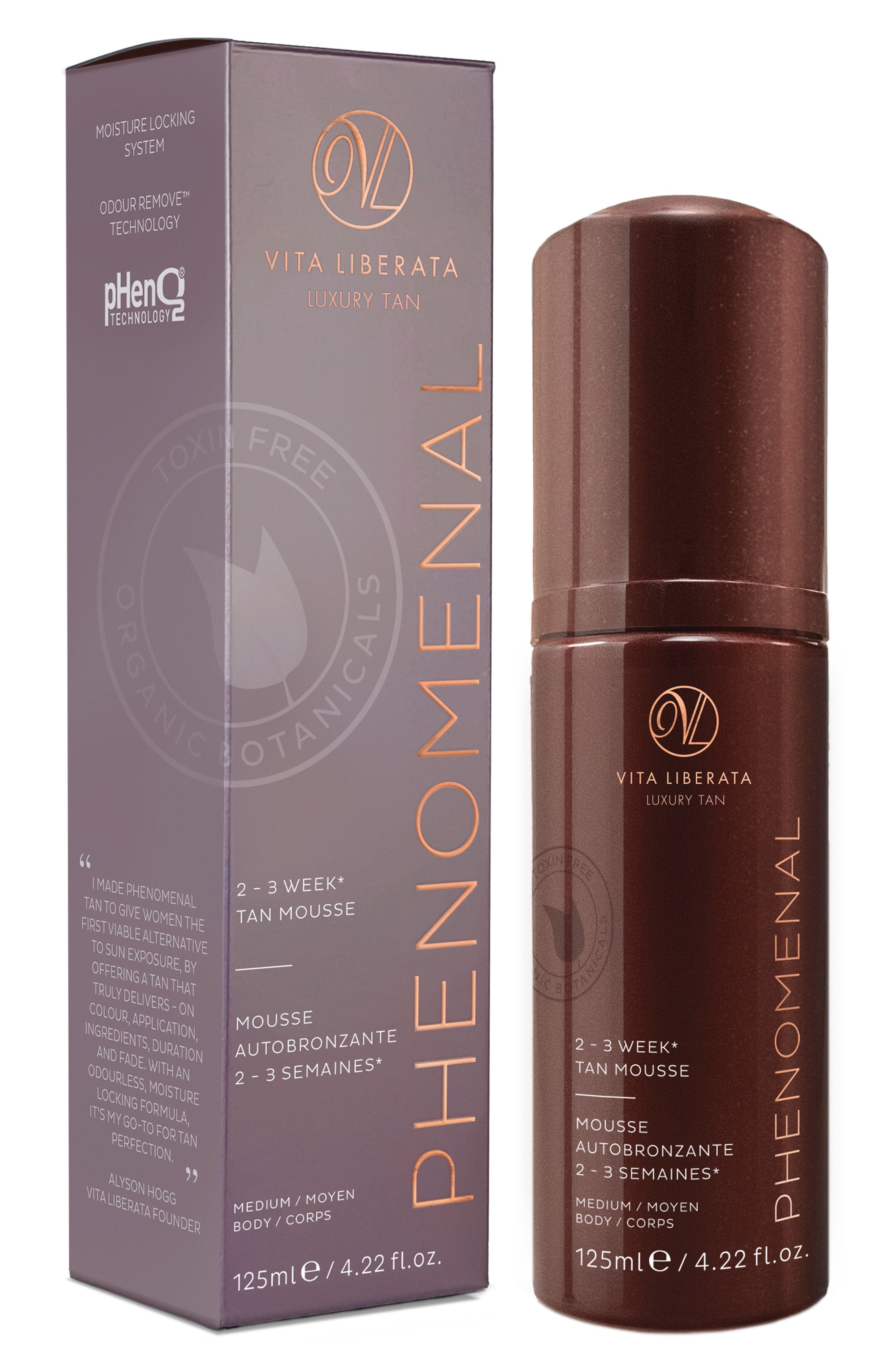 pHenomenal Tinted Tan Mousse,                         Main,                         color, Medium