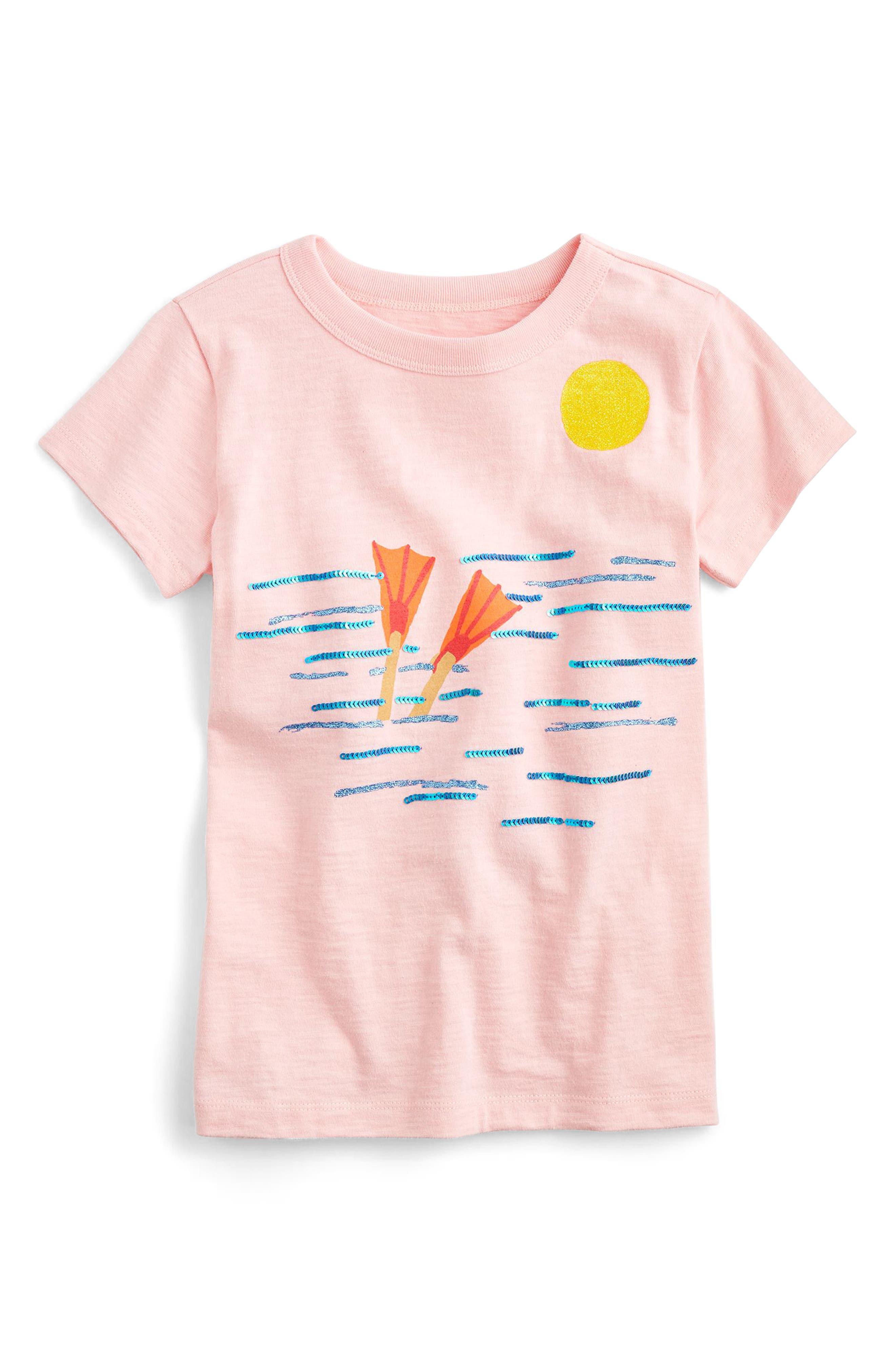 Diver Cotton Tee,                             Main thumbnail 1, color,                             Beach Pink