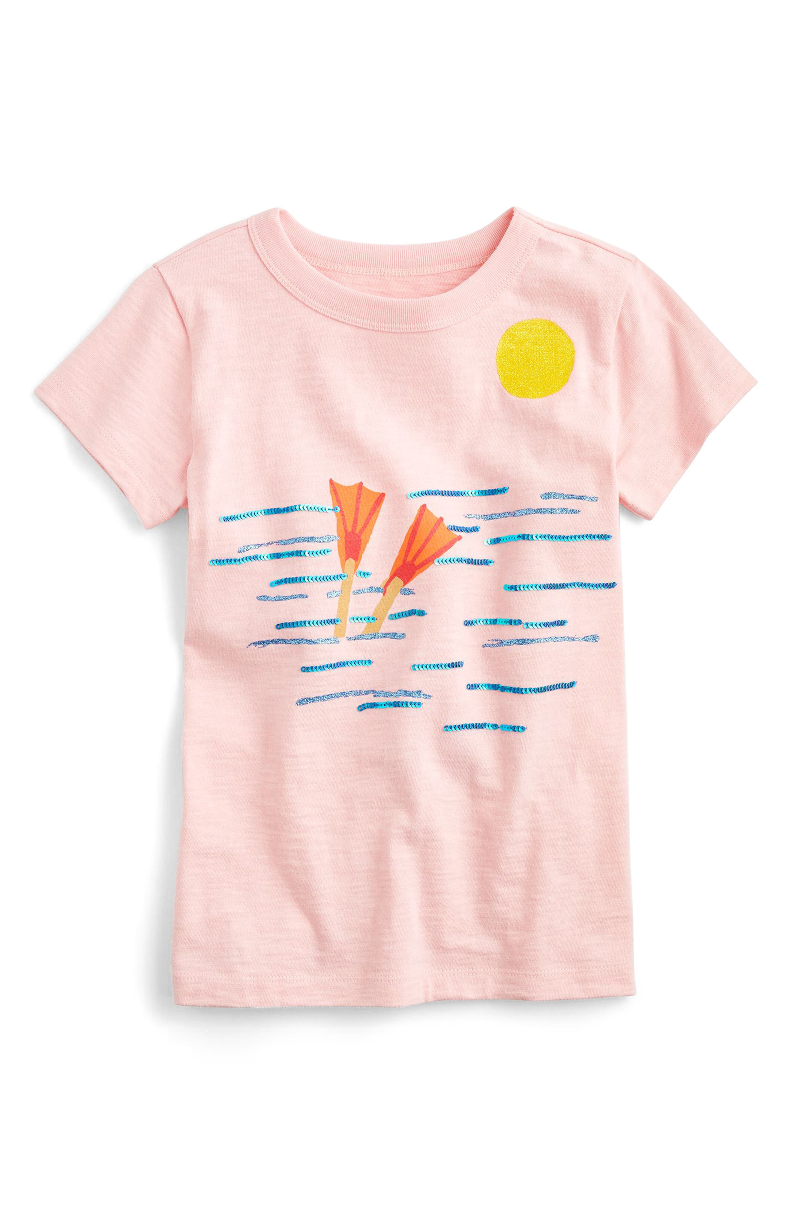 crewcuts by J. Crew Diver Cotton Tee (Toddler Girls, Little Girls & Big Girls)