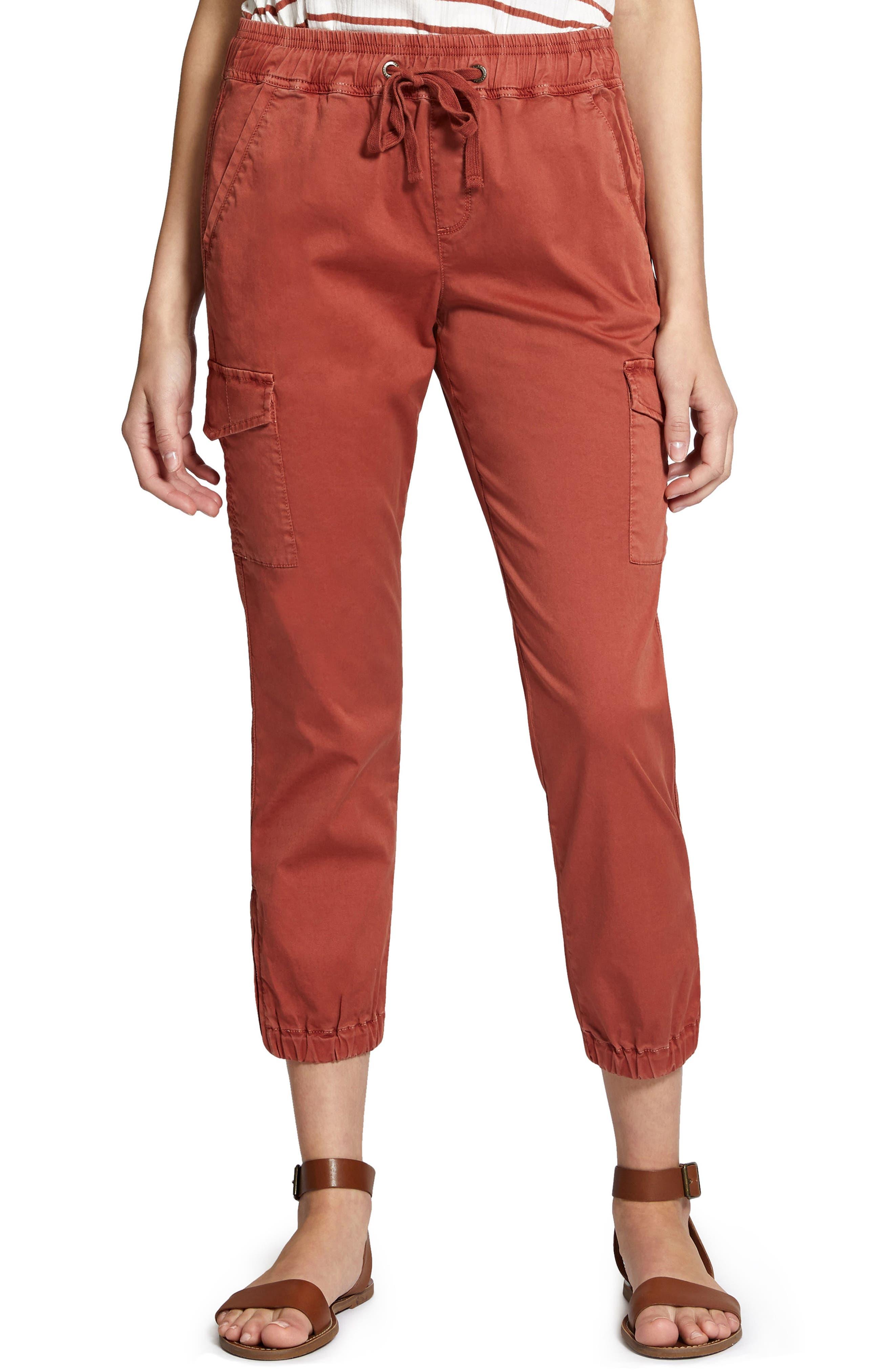 Drawstring Trooper Pants,                         Main,                         color, Terra Cotta