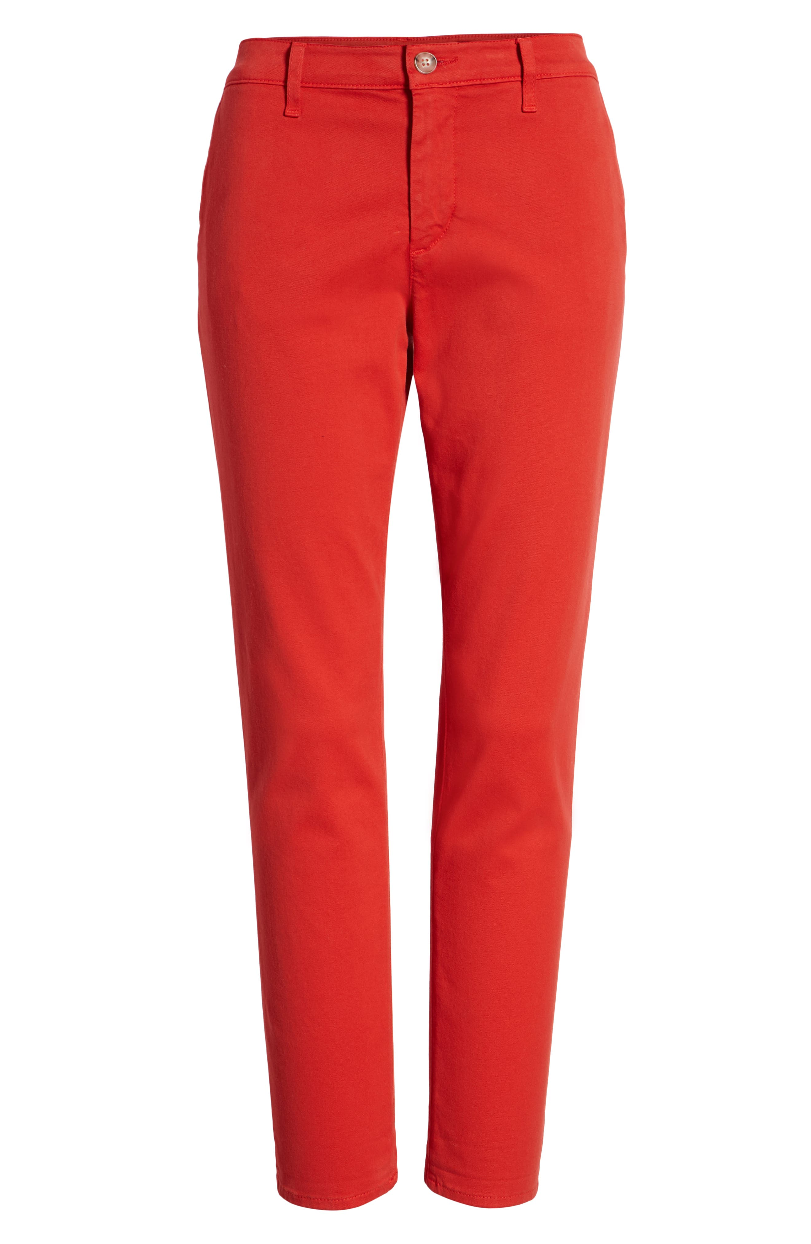 Caden Crop Twill Trousers,                             Alternate thumbnail 7, color,                             Red Poppy