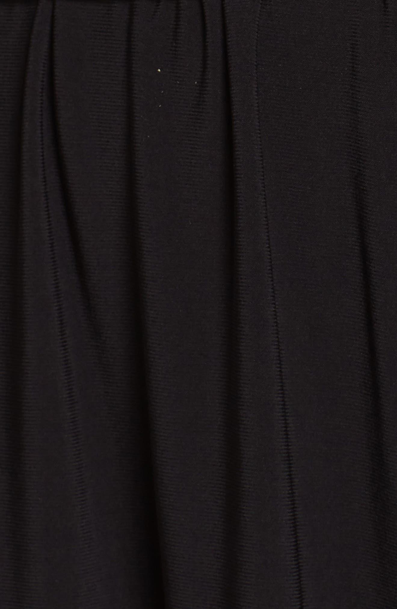Matte Jersey Handkerchief Hem Dress,                             Alternate thumbnail 3, color,                             Black
