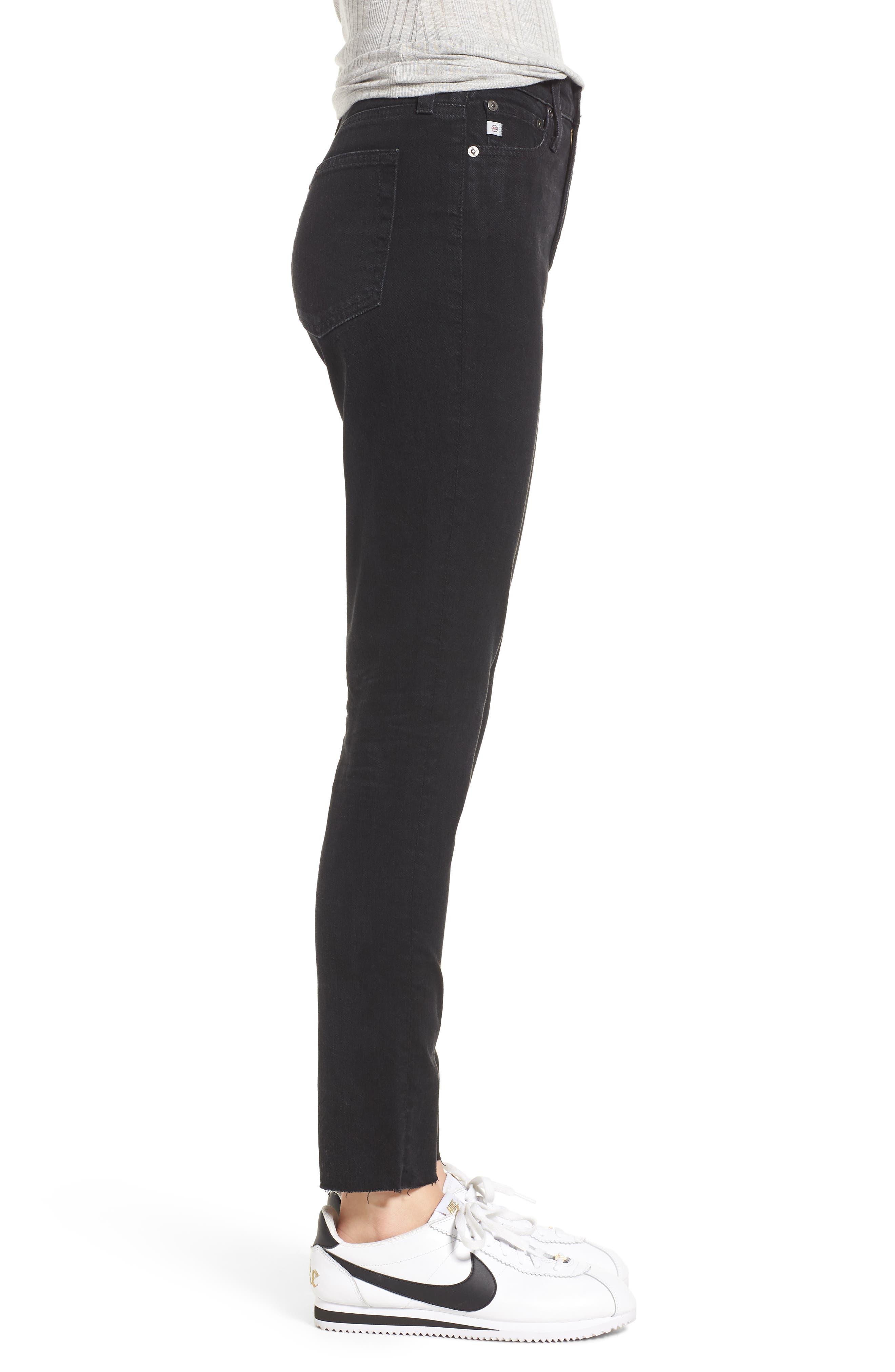 Sophia High Waist Ankle Skinny Jeans,                             Alternate thumbnail 6, color,                             1 Year Black Hawk