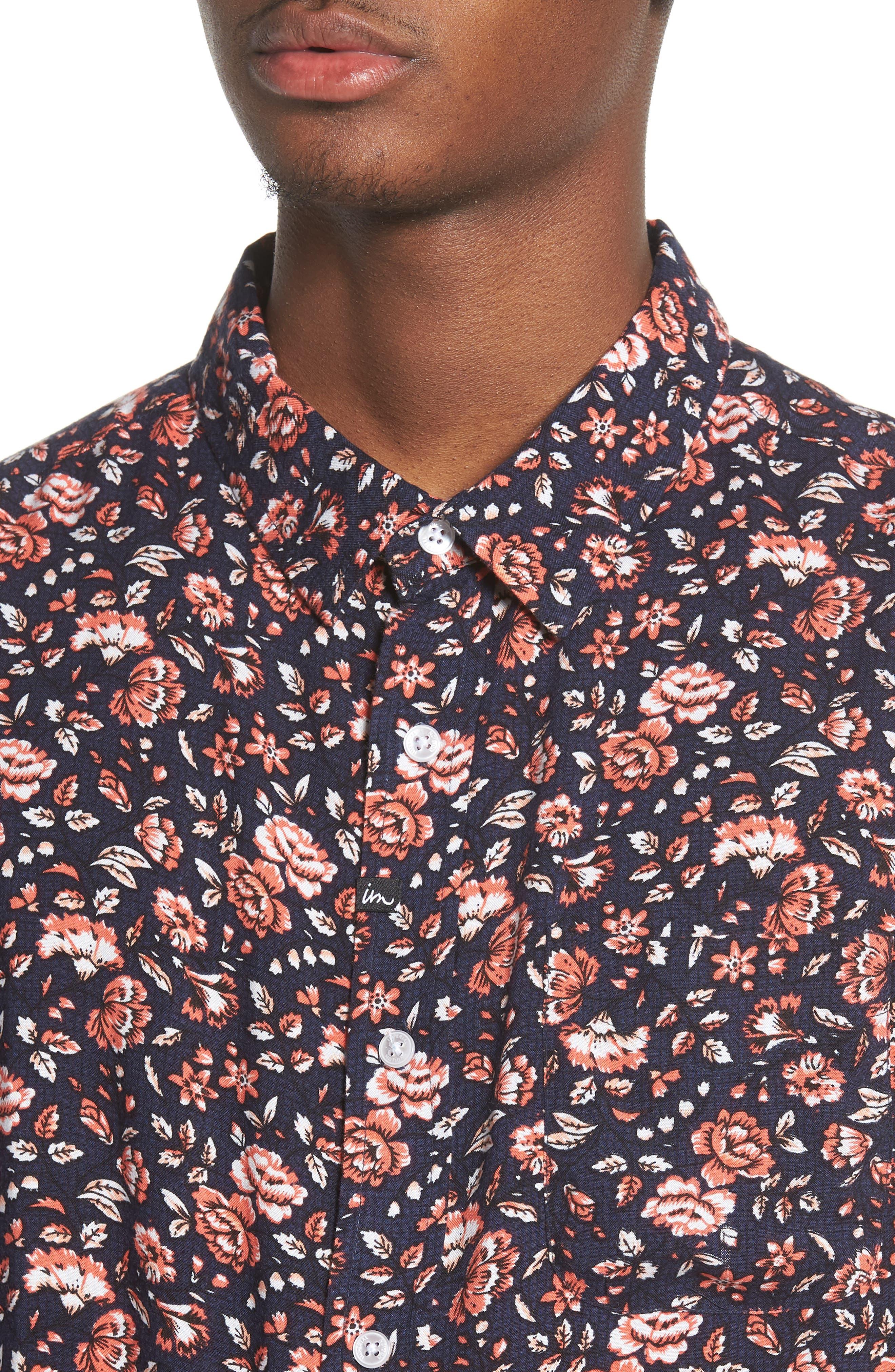 Synth Woven Shirt,                             Alternate thumbnail 2, color,                             Navy