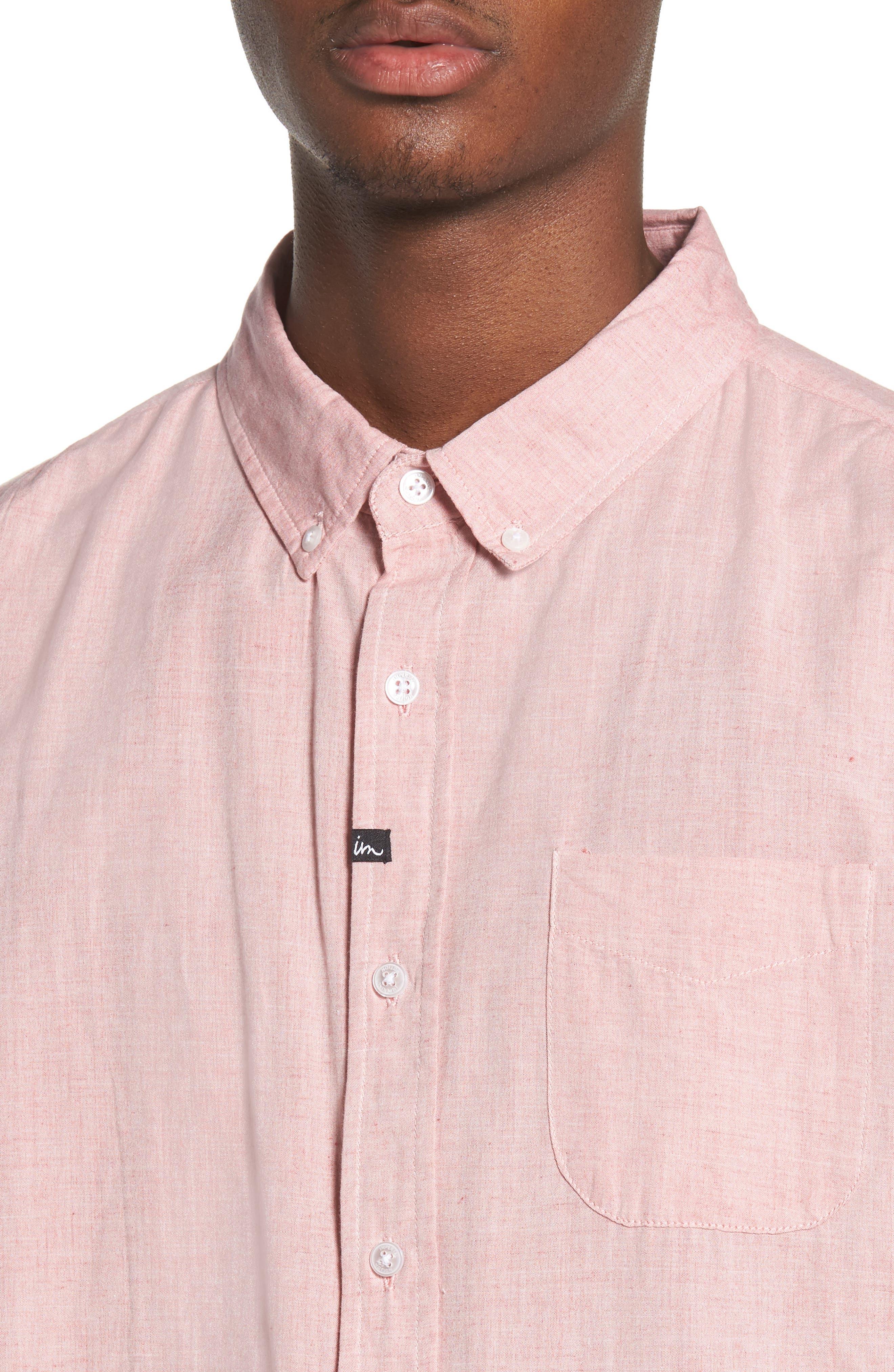 Triumph Woven Shirt,                             Alternate thumbnail 2, color,                             Mahogany