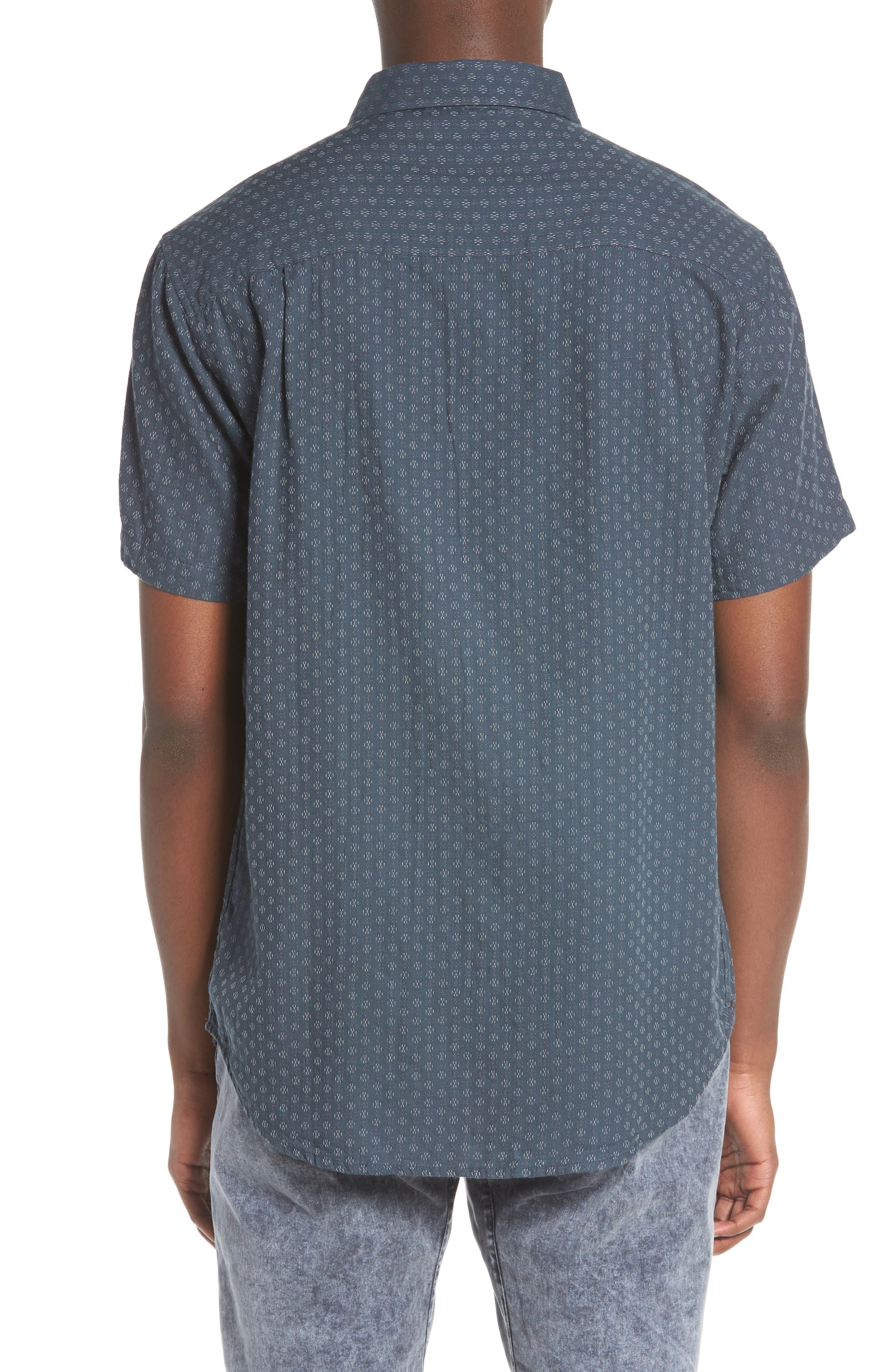 Circuit Woven Shirt,                             Alternate thumbnail 3, color,                             Dark Teal