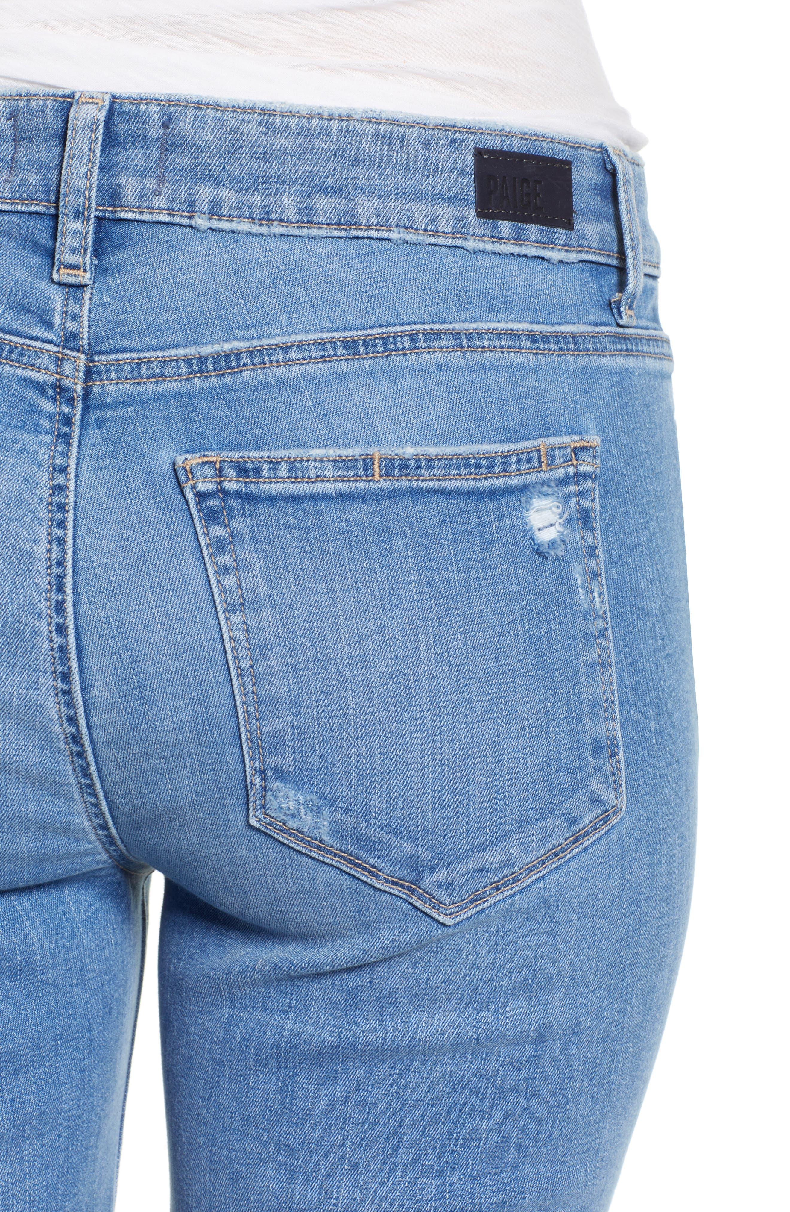 Transcend Vintage - Jimmy Jimmy High Waist Crop Boyfriend Jeans,                             Alternate thumbnail 4, color,                             Vintage Venice