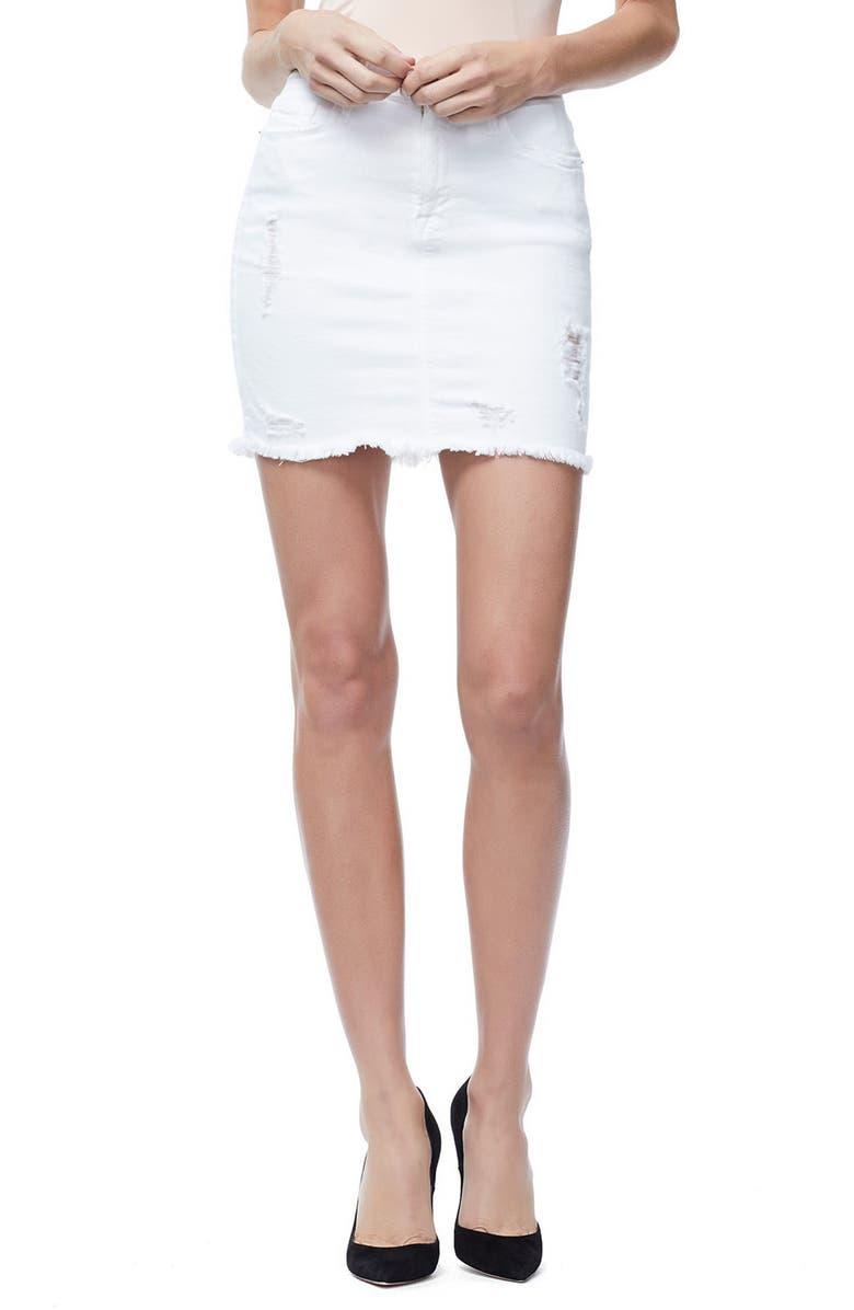 The Mini Cutoff Denim Miniskirt