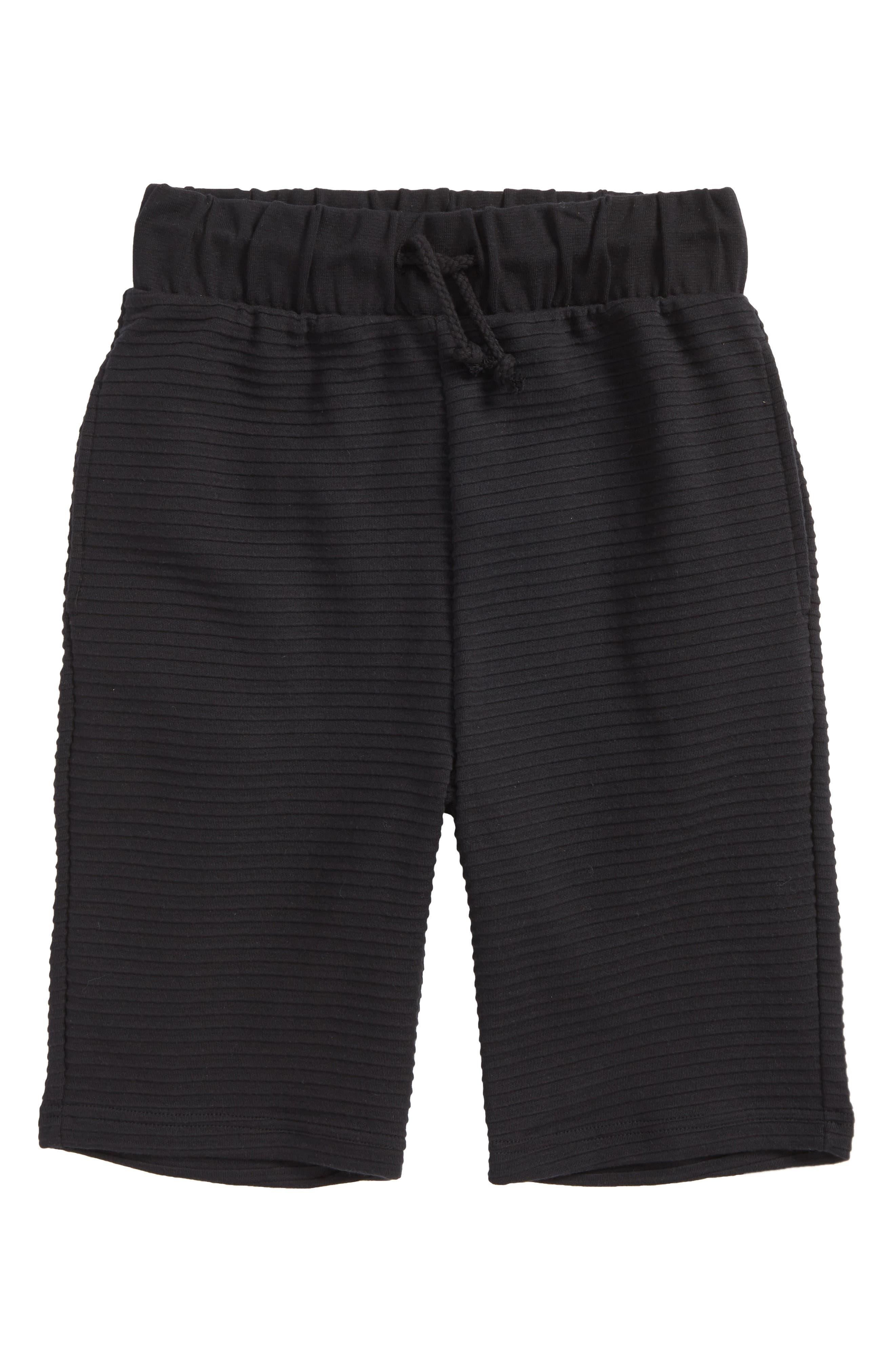 Freddie Knit Shorts,                             Main thumbnail 1, color,                             Black
