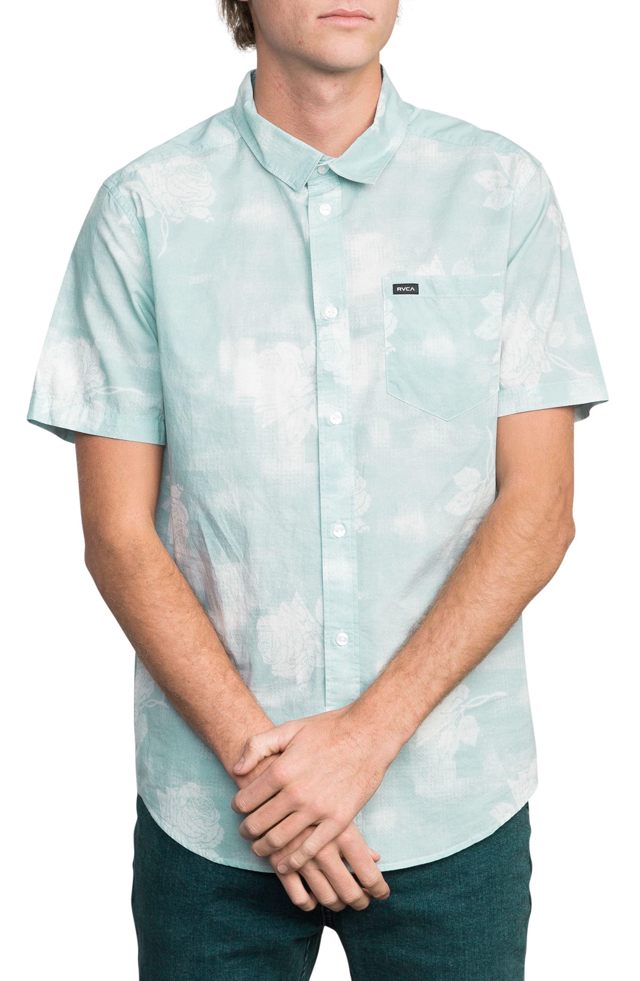 Devastator Woven Shirt,                         Main,                         color, Blue