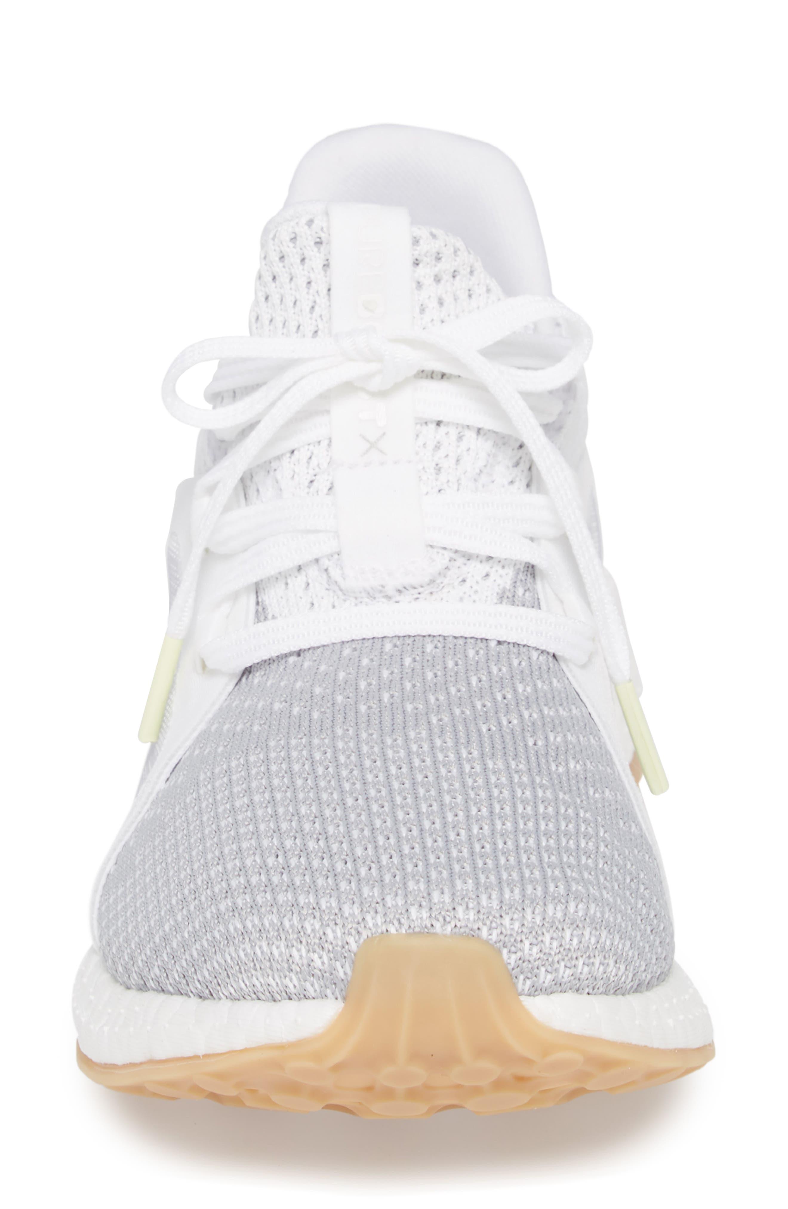Pureboost X Clima Sneaker,                             Alternate thumbnail 4, color,                             White/ Silver/ Grey