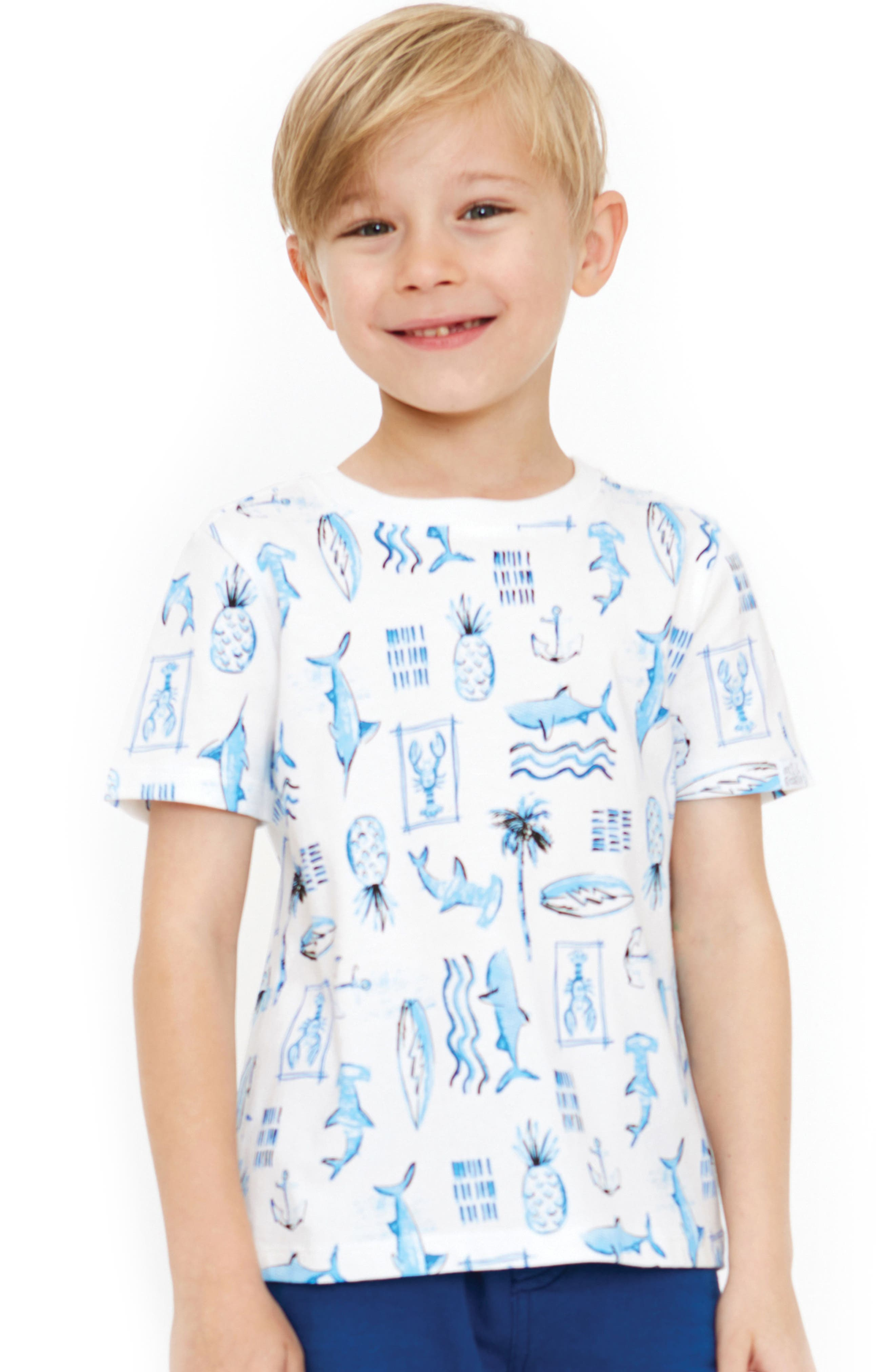 William Nautical Organic Cotton T-Shirt,                             Alternate thumbnail 2, color,                             Egret