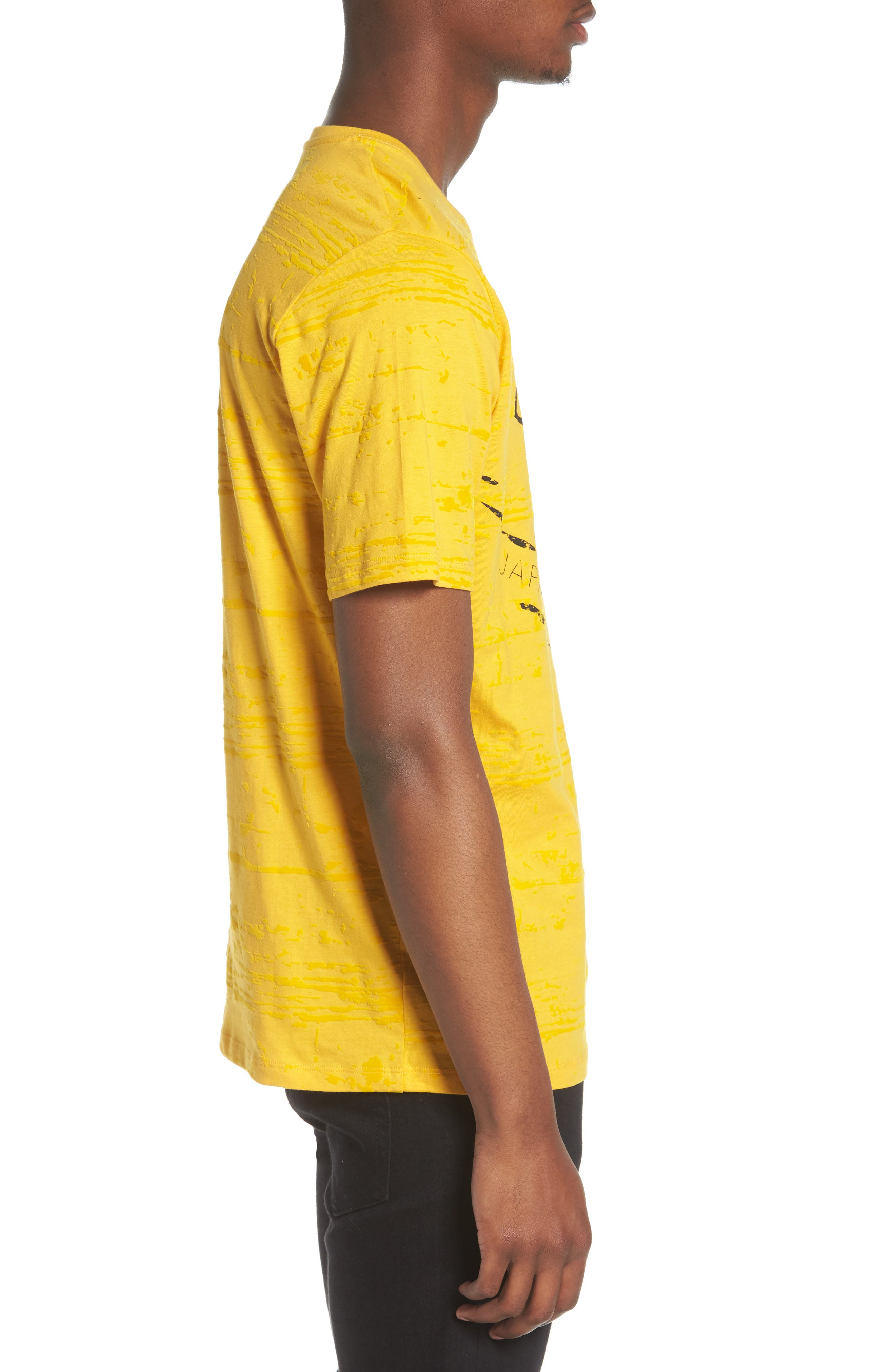 Flocked Graphic T-Shirt,                             Alternate thumbnail 5, color,                             Yellow
