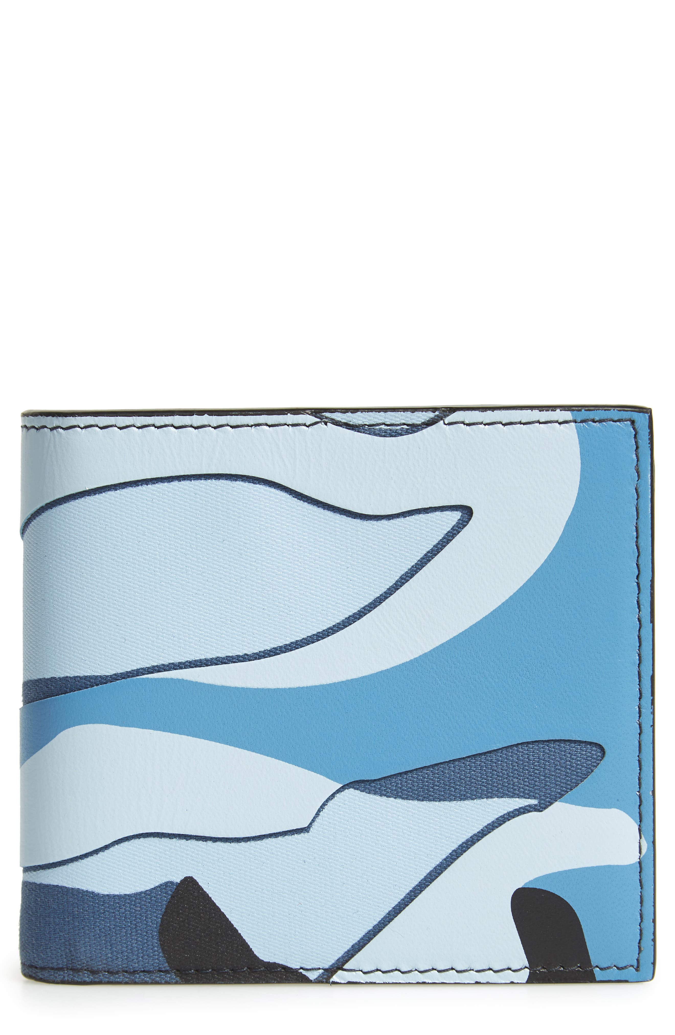 VALENTINO GARAVANI Camo Canvas & Leather Wallet