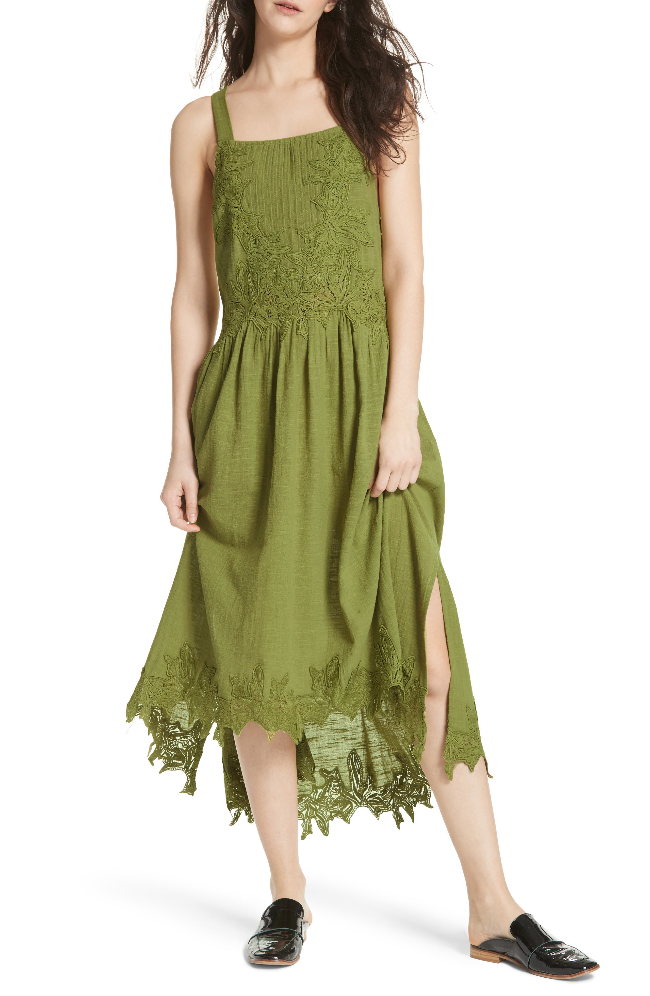 In Your Arms Appliqué Maxi Dress,                             Main thumbnail 1, color,                             Green