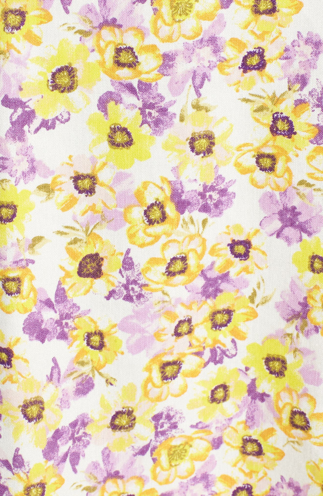Rayanna Cutout Minidress,                             Alternate thumbnail 6, color,                             Yellow Garden