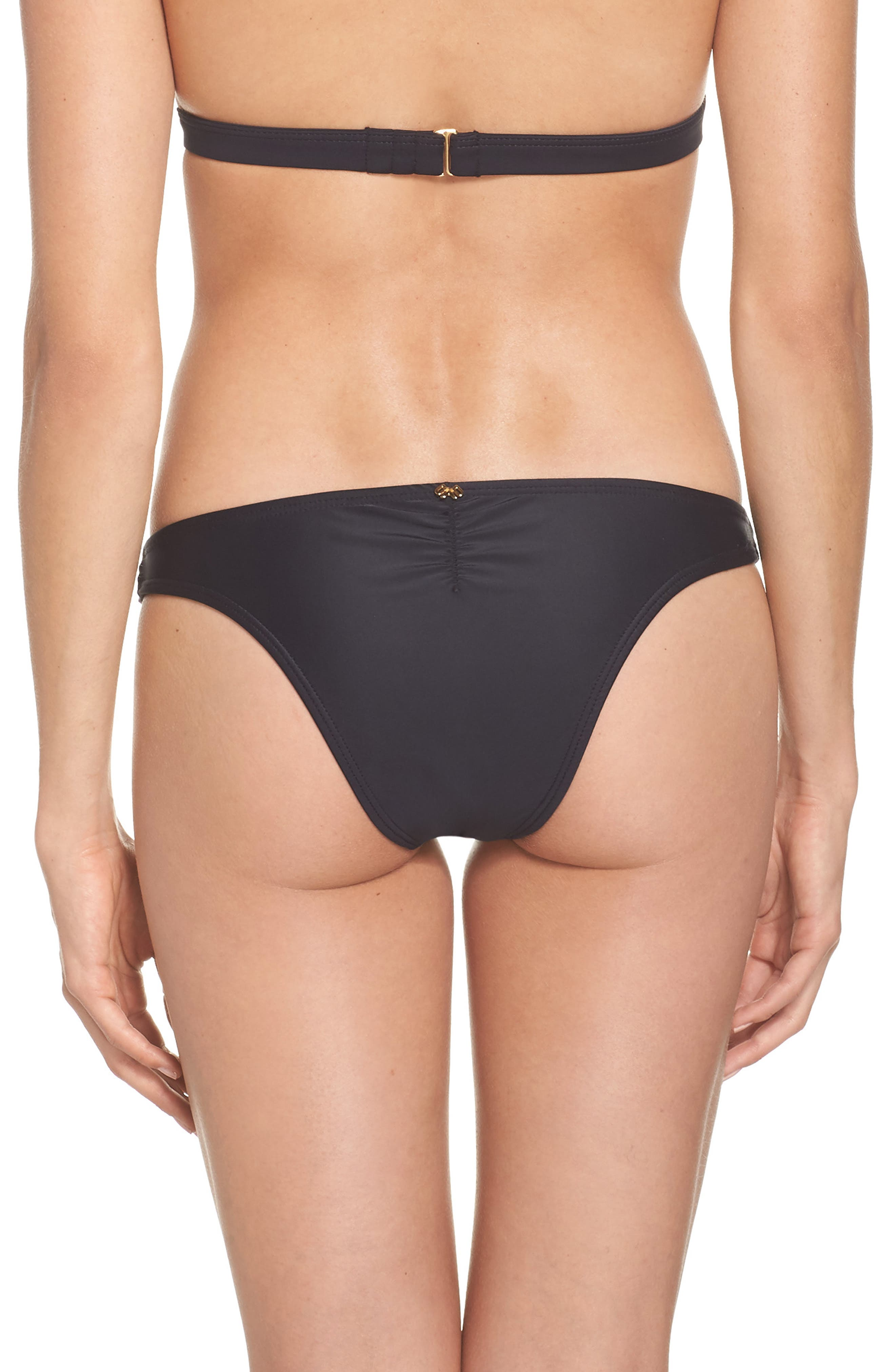 Teeny Colorblock Bikini Bottoms,                             Alternate thumbnail 2, color,                             Cadillac