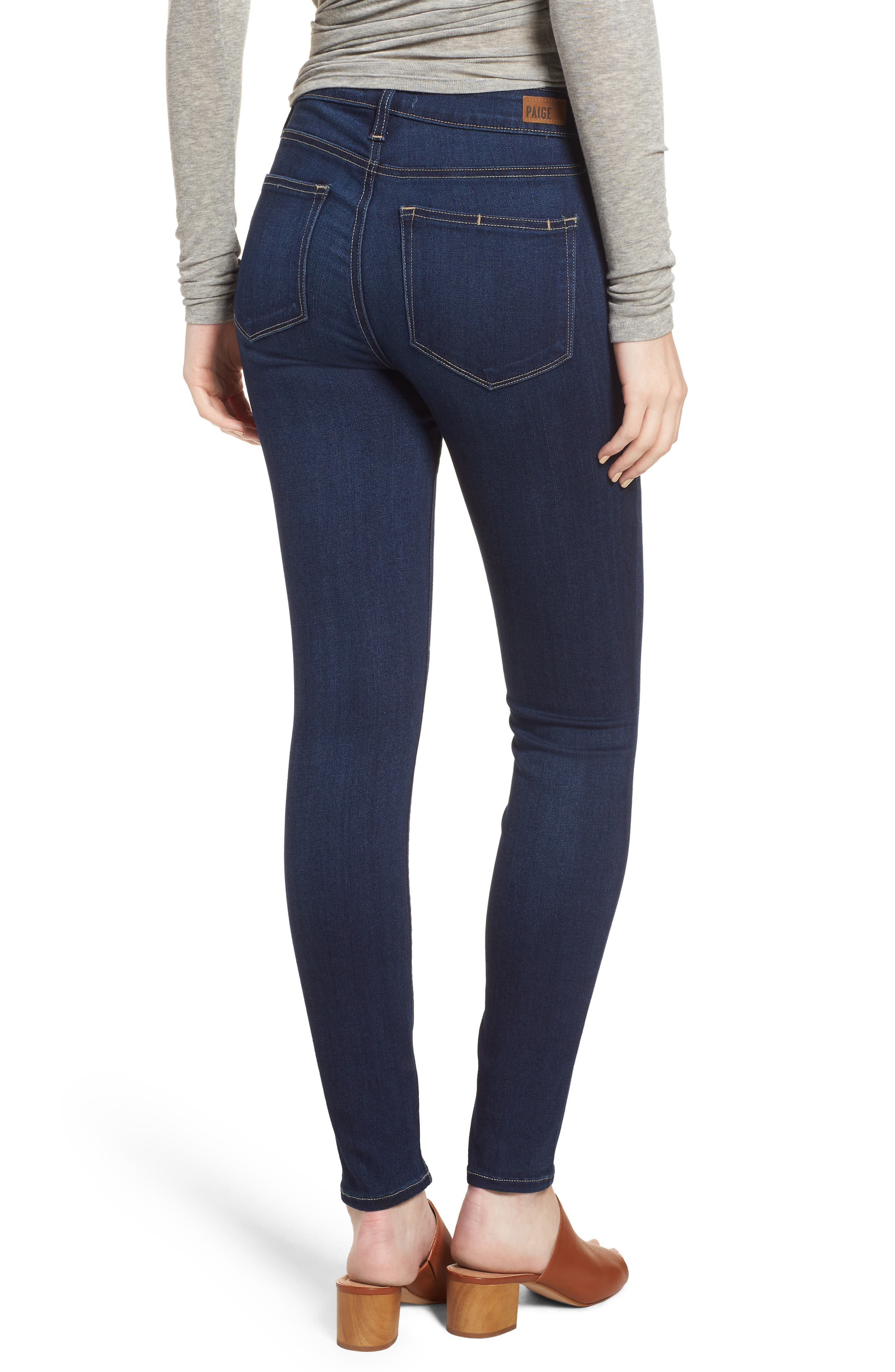 Hoxton High Waist Ankle Skinny Jeans,                             Alternate thumbnail 2, color,                             Calani