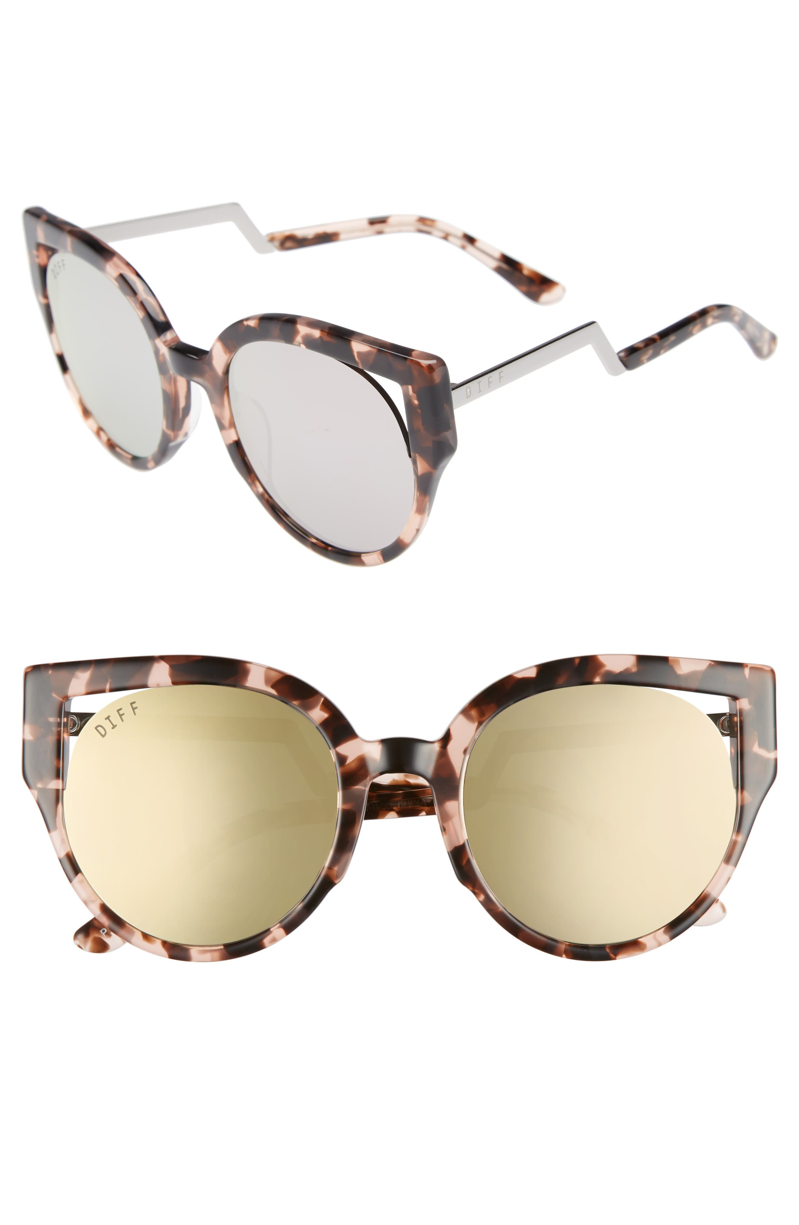 Penny 55mm Cat Eye Sunglasses,                         Main,                         color, Himalayan Tortoise/ Taupe