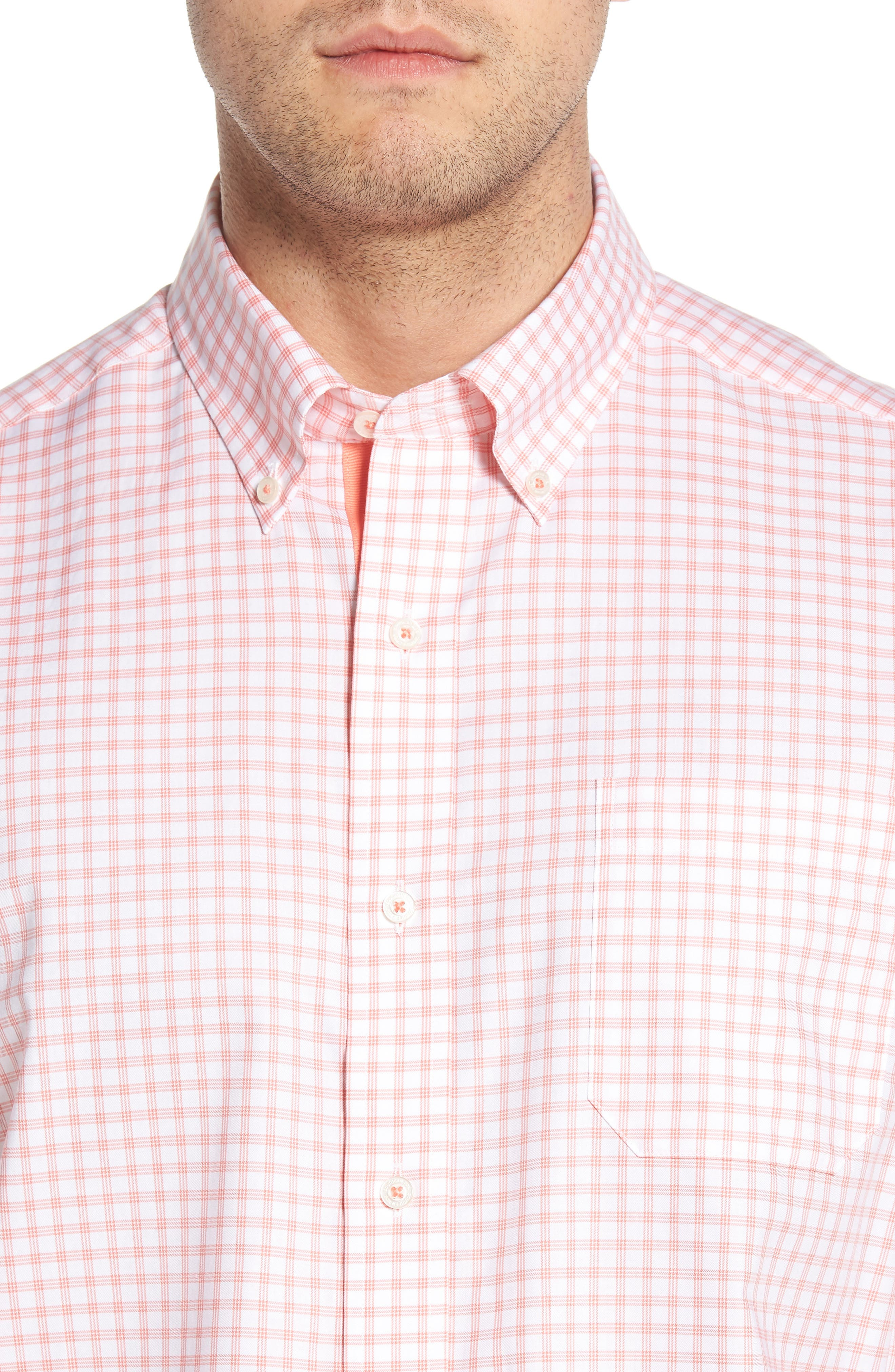 Like Oak Regular Fit Check Sport Shirt,                             Alternate thumbnail 2, color,                             Shell Pink