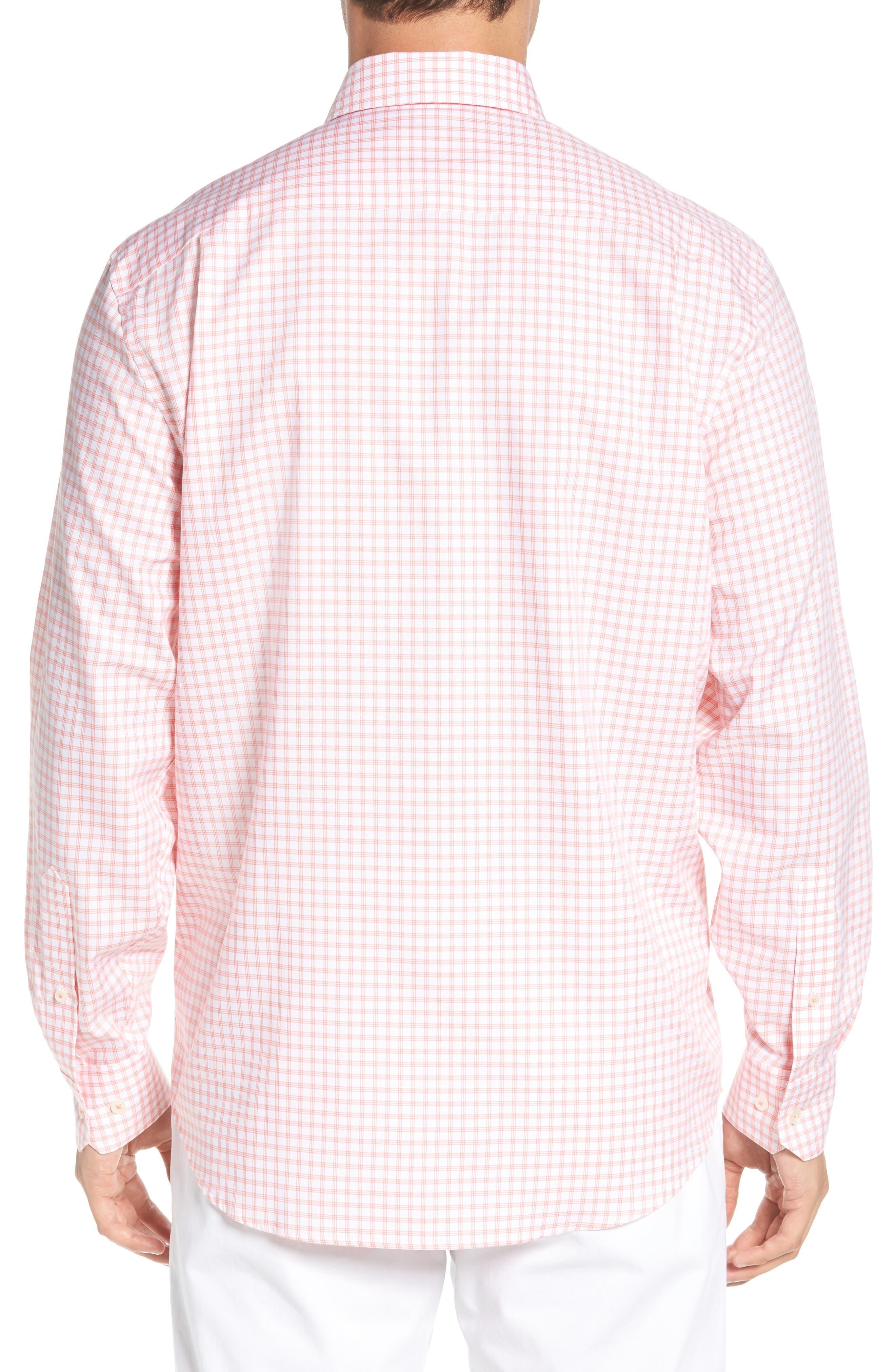 Like Oak Regular Fit Check Sport Shirt,                             Alternate thumbnail 3, color,                             Shell Pink