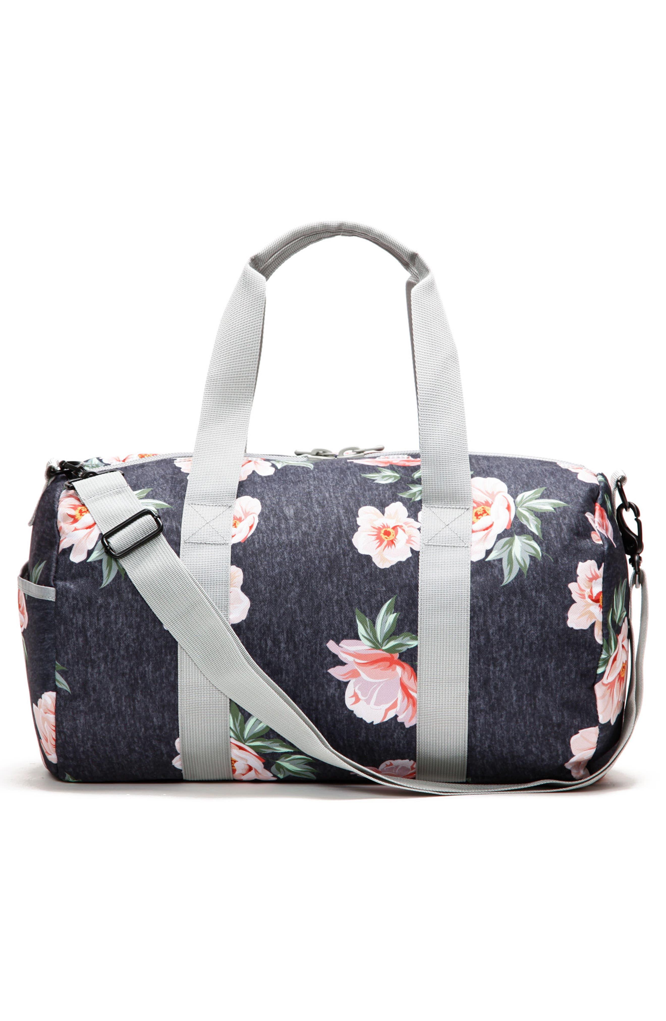 Roadie Small Duffel Bag,                             Alternate thumbnail 3, color,                             Rose Navy