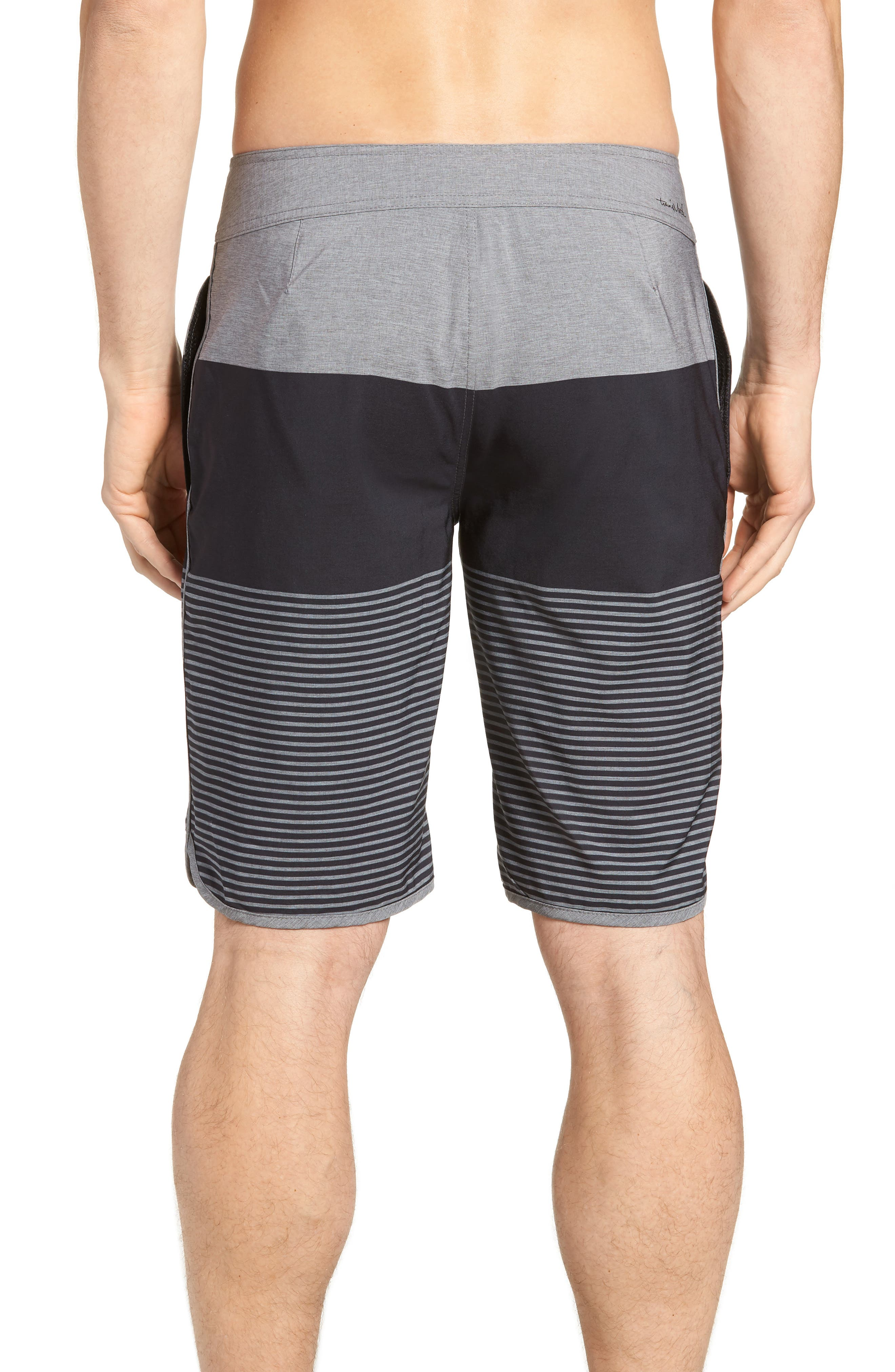 Claim It Regular Fit Board Shorts,                             Alternate thumbnail 2, color,                             Heather Black