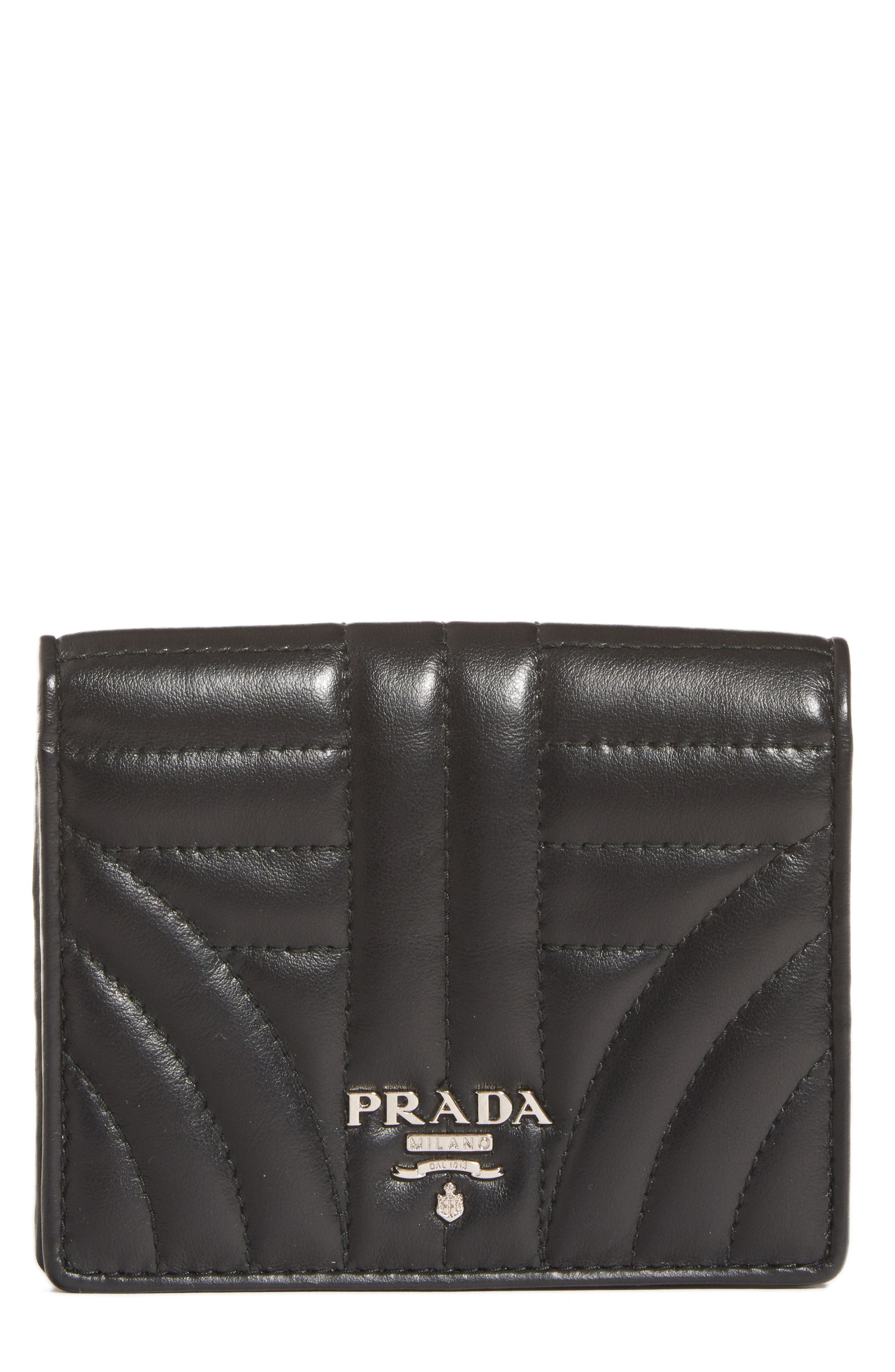 Prada Quilted Leather French Wallet