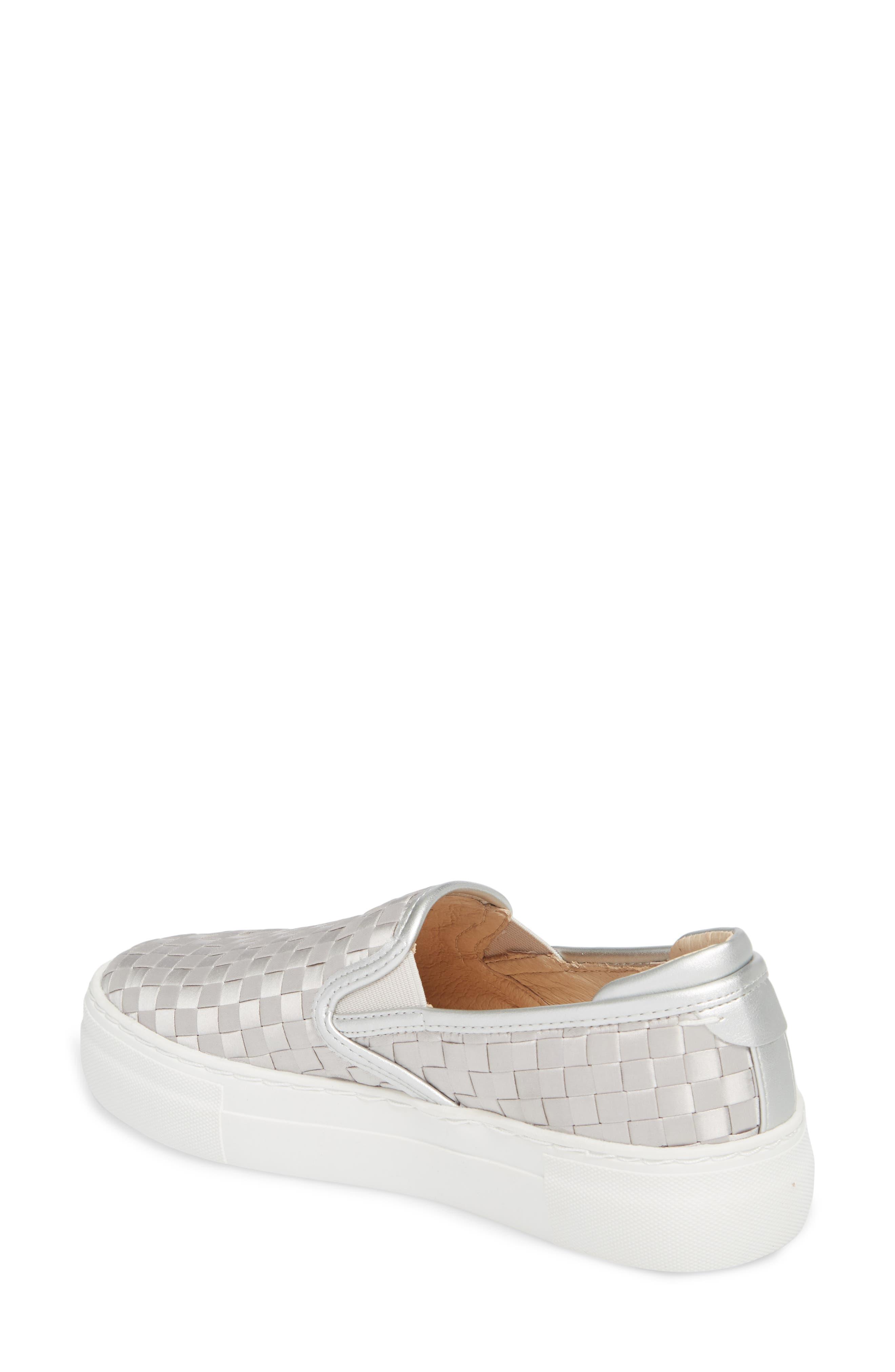 Monte Woven Slip-On Sneaker,                             Alternate thumbnail 2, color,                             Silver Satin