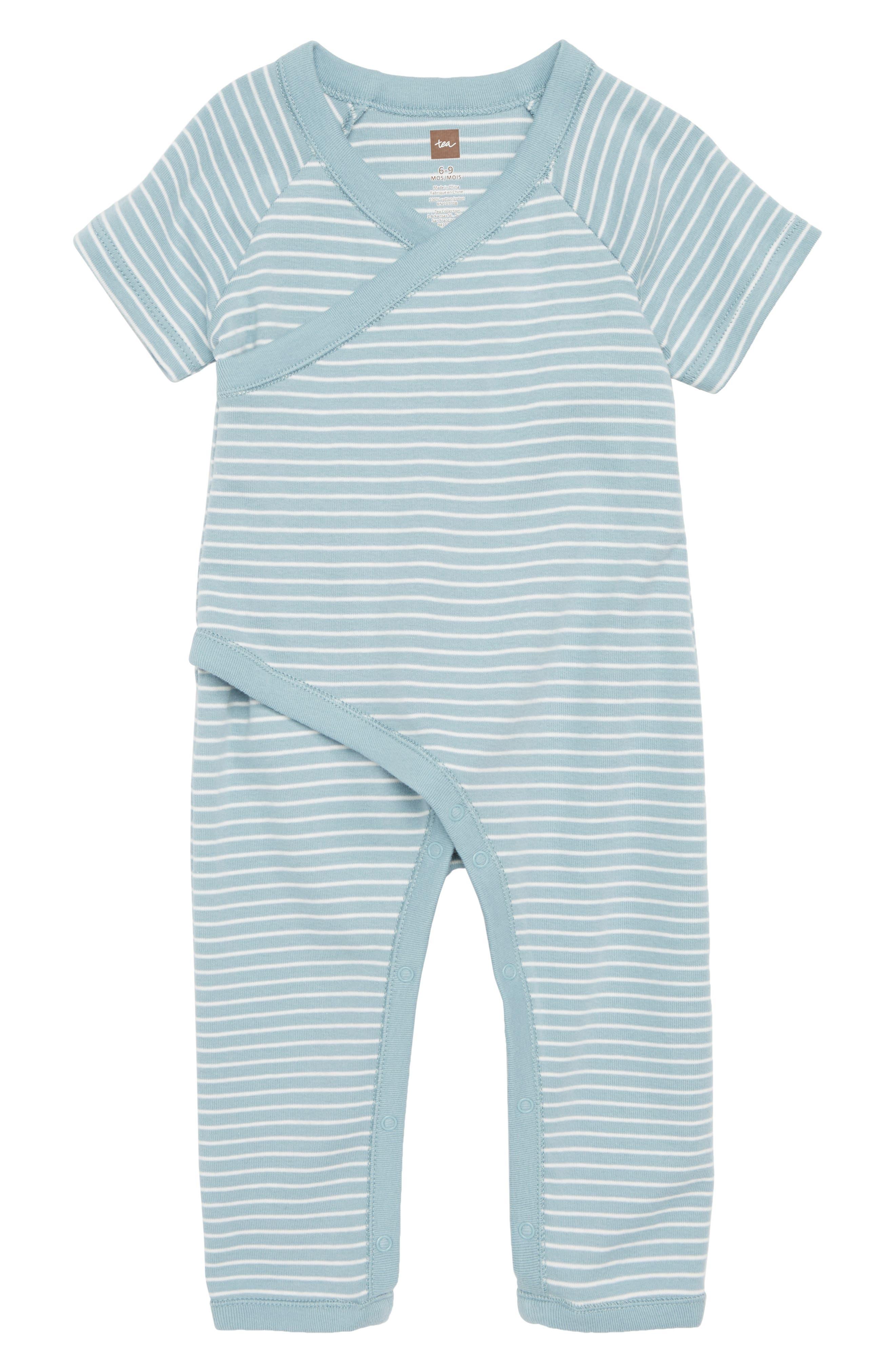 Tea Collection Stripe Wrap Romper (Baby)