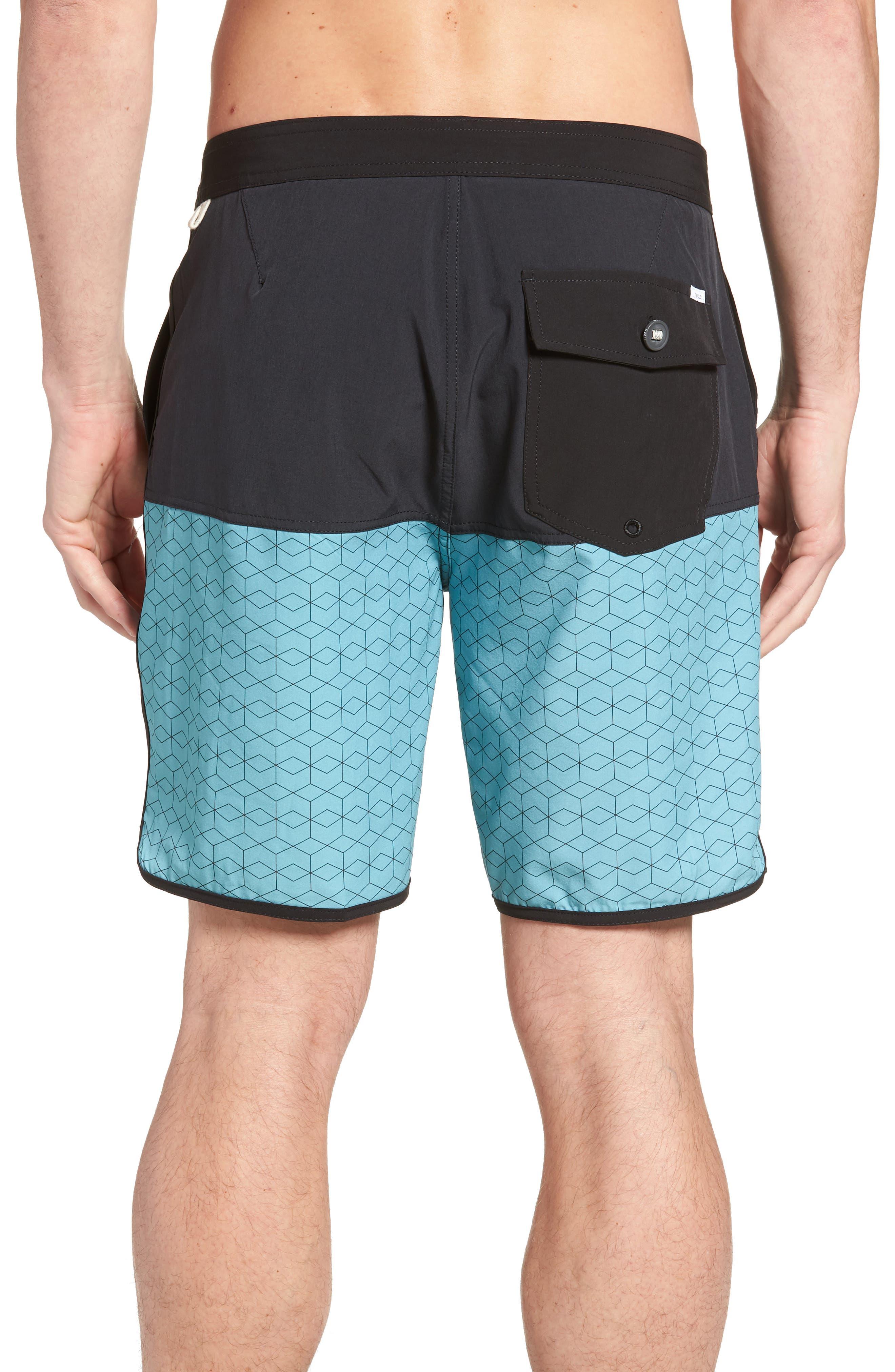 Cruise Hybrid Board Shorts,                             Alternate thumbnail 2, color,                             Glacier Hex Block
