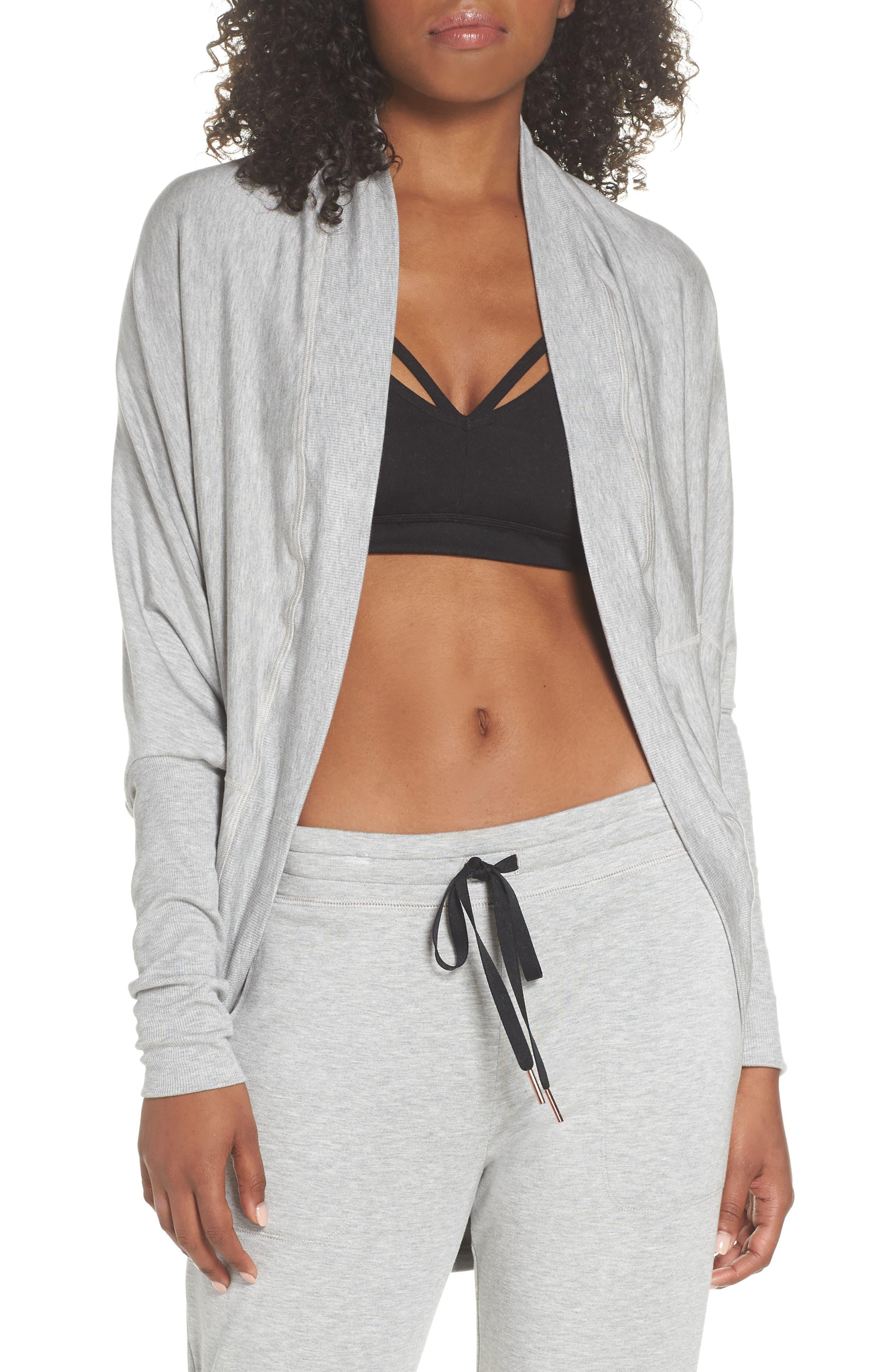 'Cozy' Convertible Fleece Pullover,                         Main,                         color, Light Heather Gray