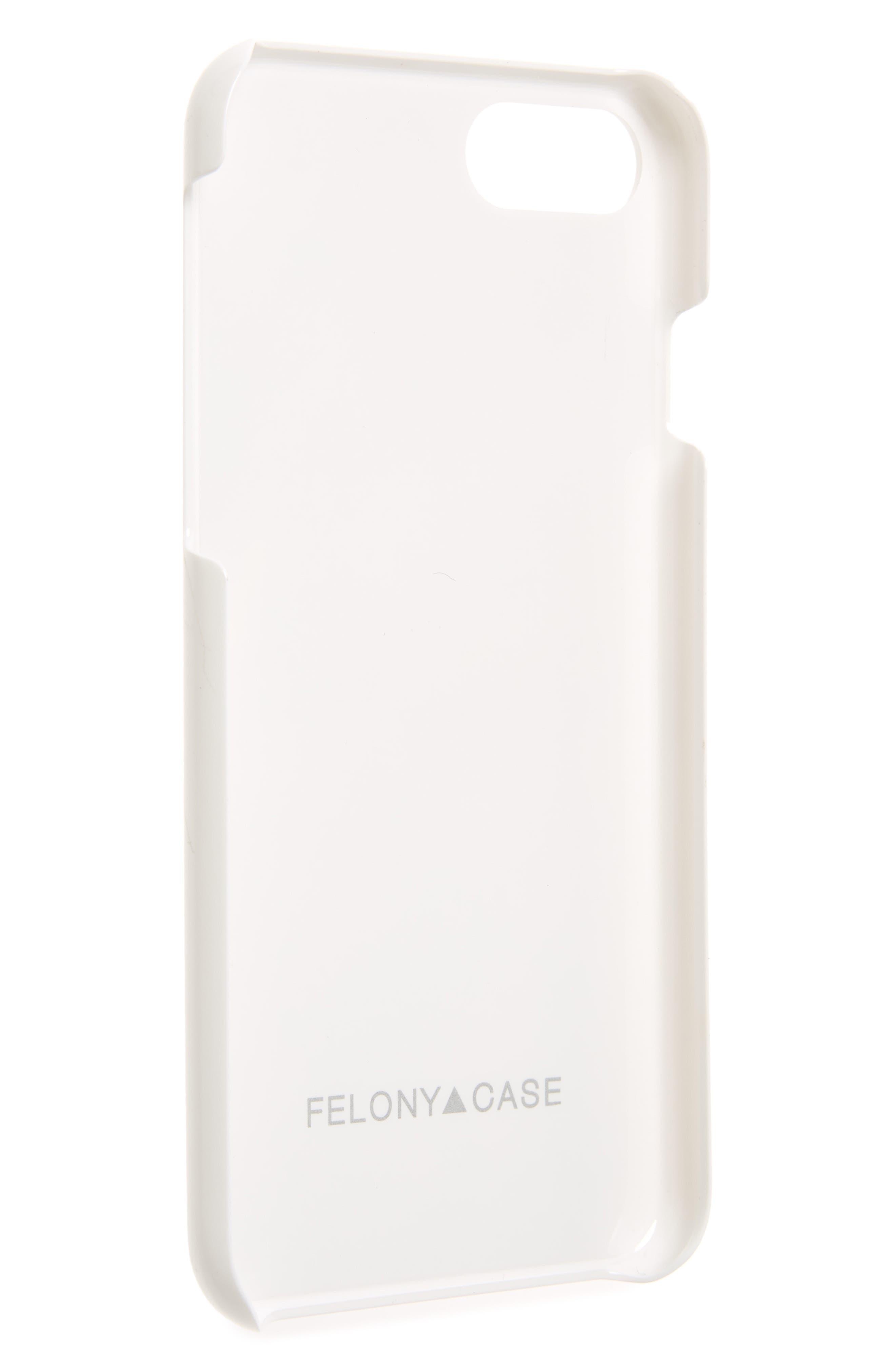 Genuine White Marble iPhone 6/6s/7/8 & 6/6s/7/8 Plus Case,                             Alternate thumbnail 2, color,                             White