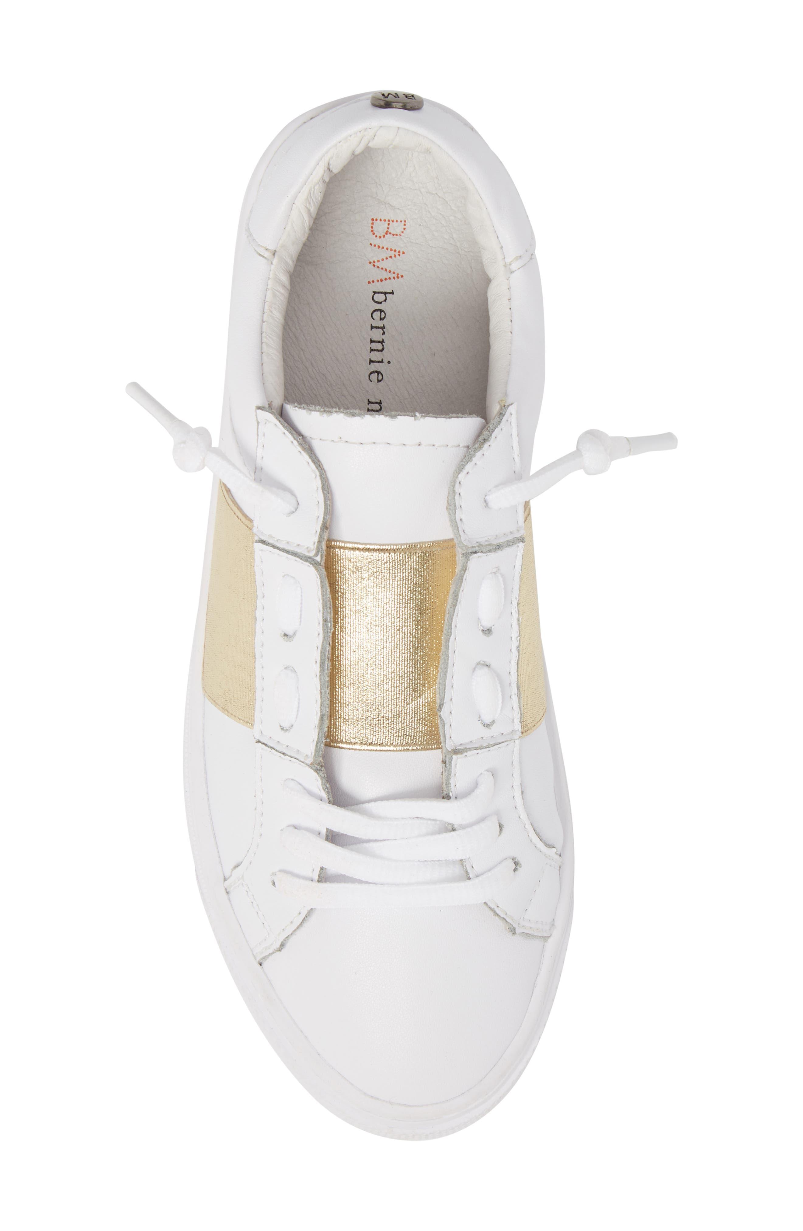 Slip-On Sneaker,                             Alternate thumbnail 5, color,                             Gold Elastic Leather
